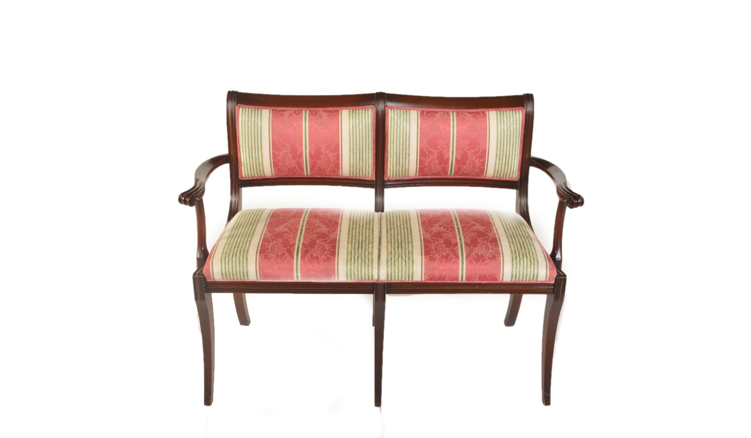 Federal Style Upholstered Accent Bench