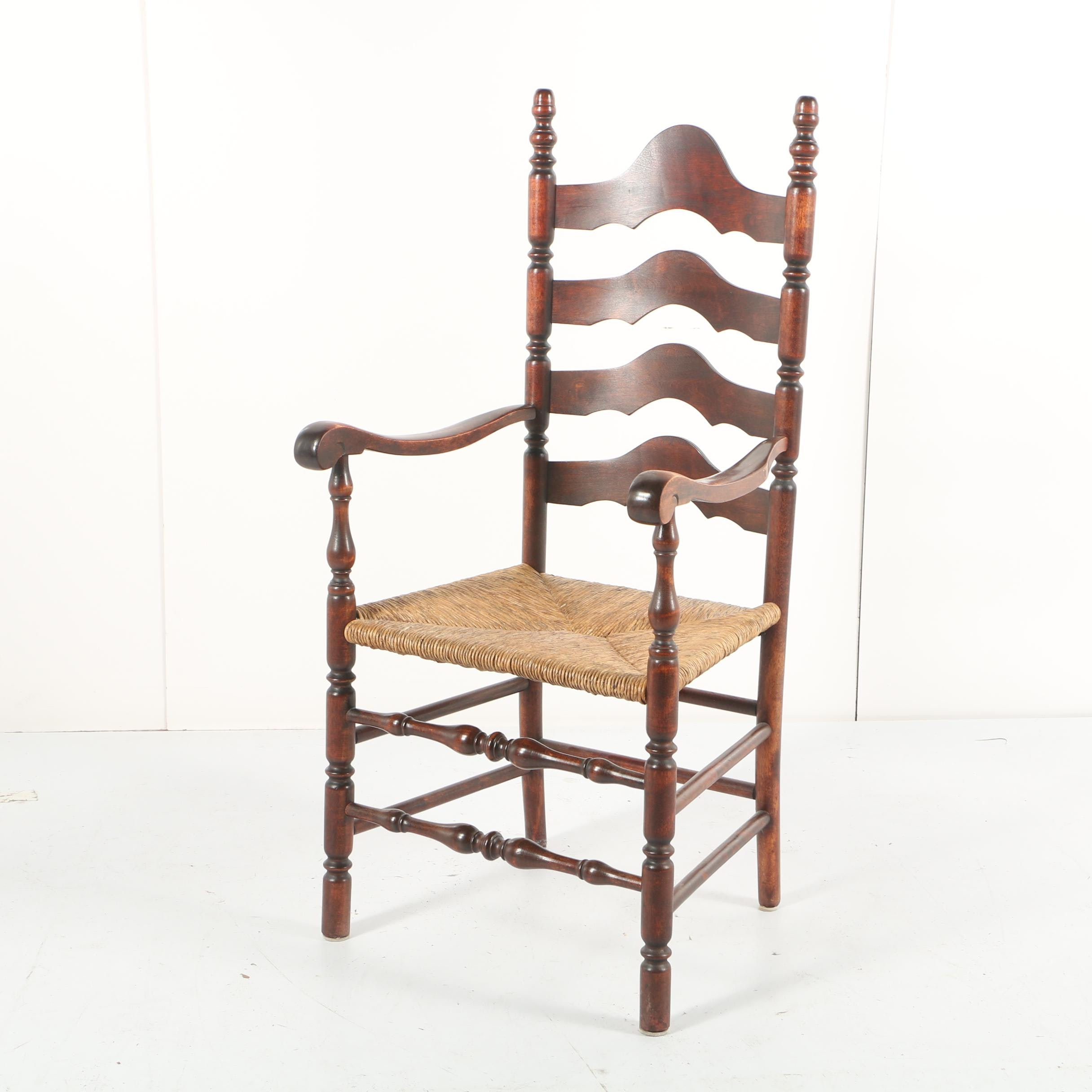Rush Seat Ladder Back Armchair