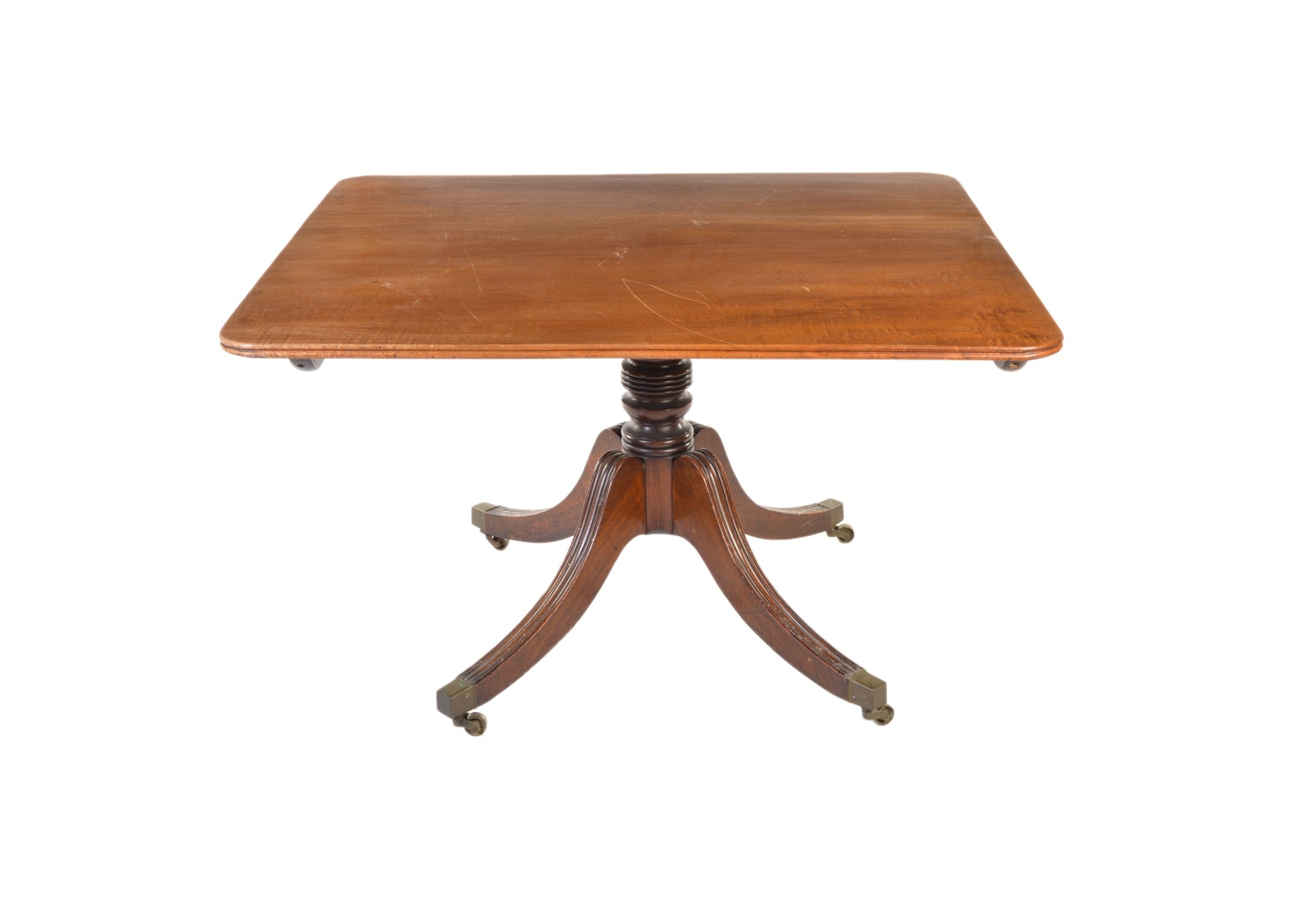 Vintage Square Table on Wheels