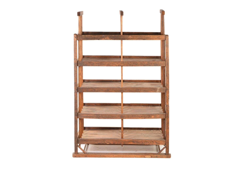 Antique Wooden Baker's Rack