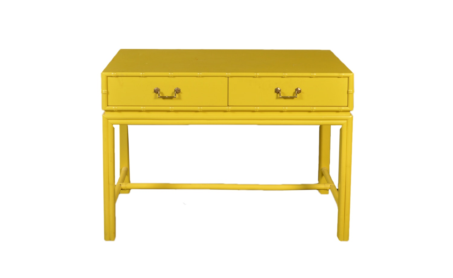 Bright Yellow Campaign Style Console Table