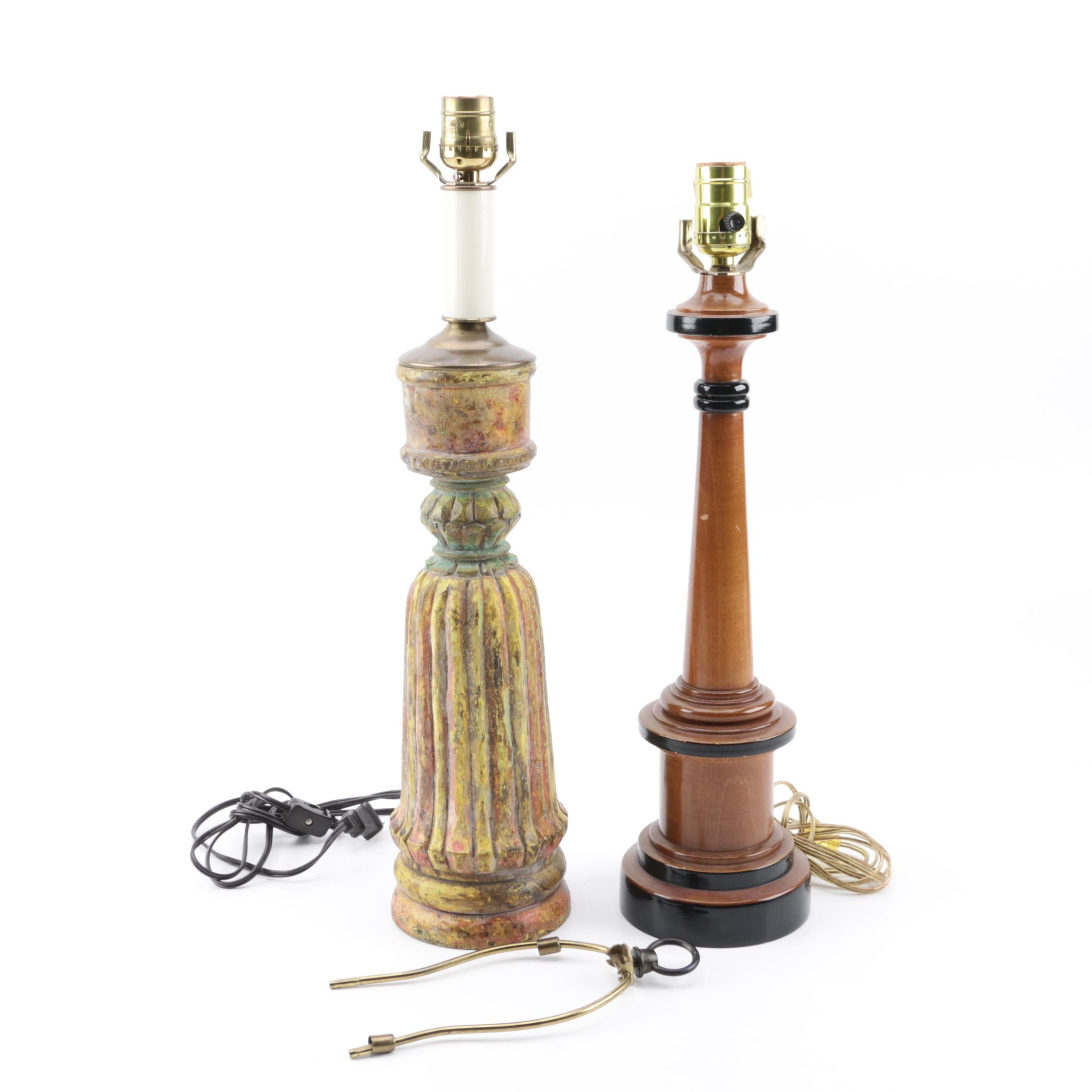 Federal and Neoclassical Style Table Lamps