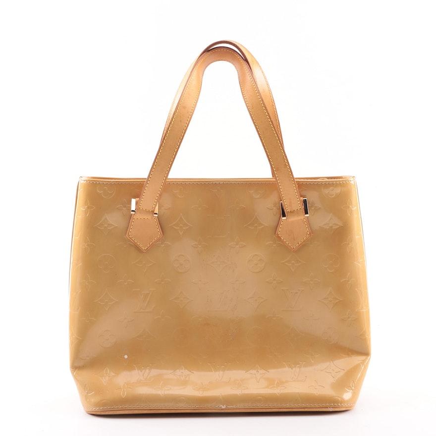 1999 Louis Vuitton of Paris Houston Mango Vernis Leather Handbag