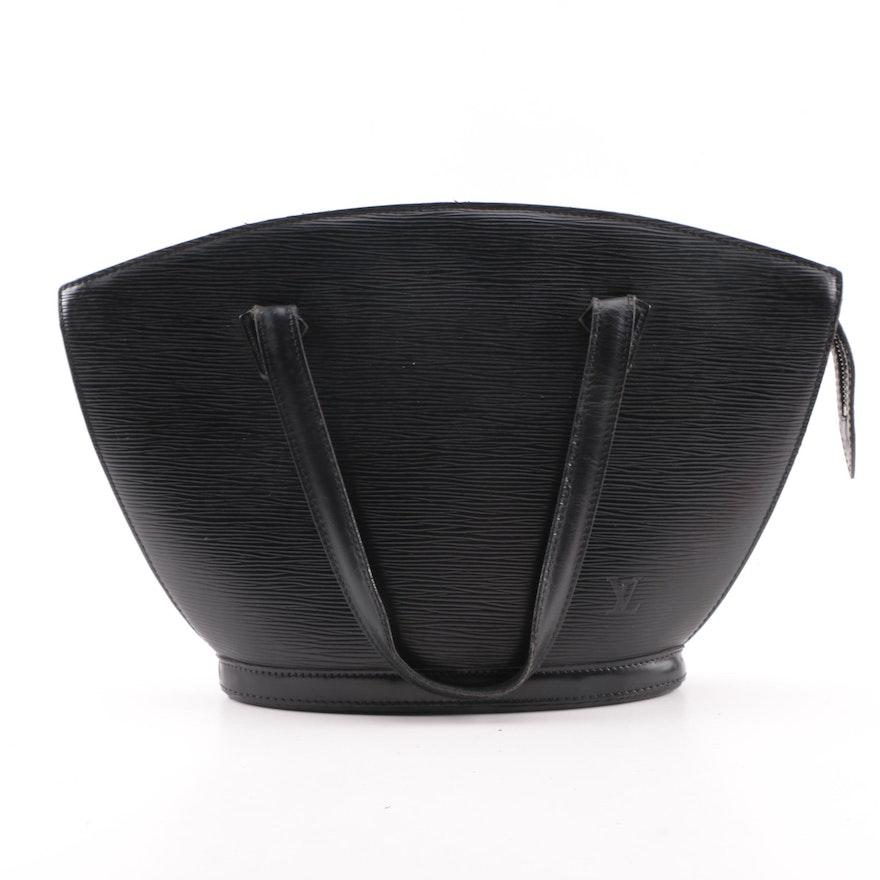 Louis Vuitton of Paris Black Epi Leather Saint Jacques Handbag