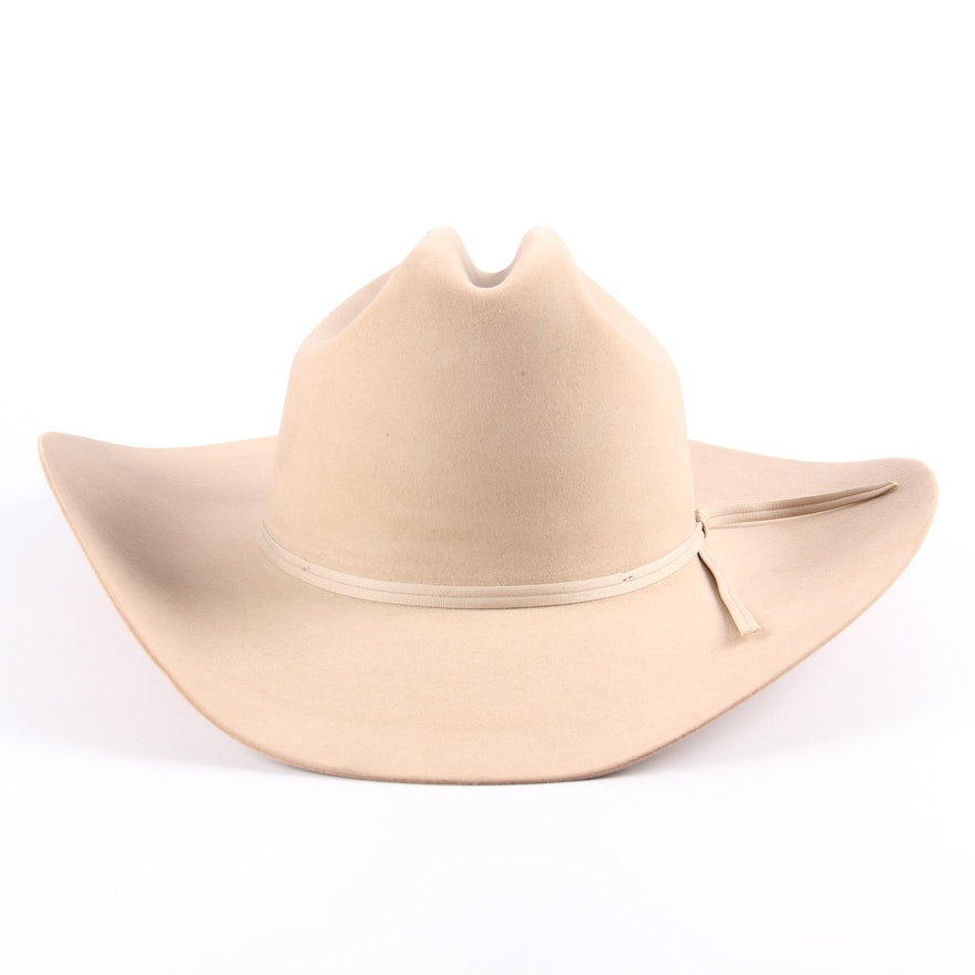 cee3f6fb0e0 Men s Stetson Ranch Tan 5X Felted Cowboy Hat   EBTH