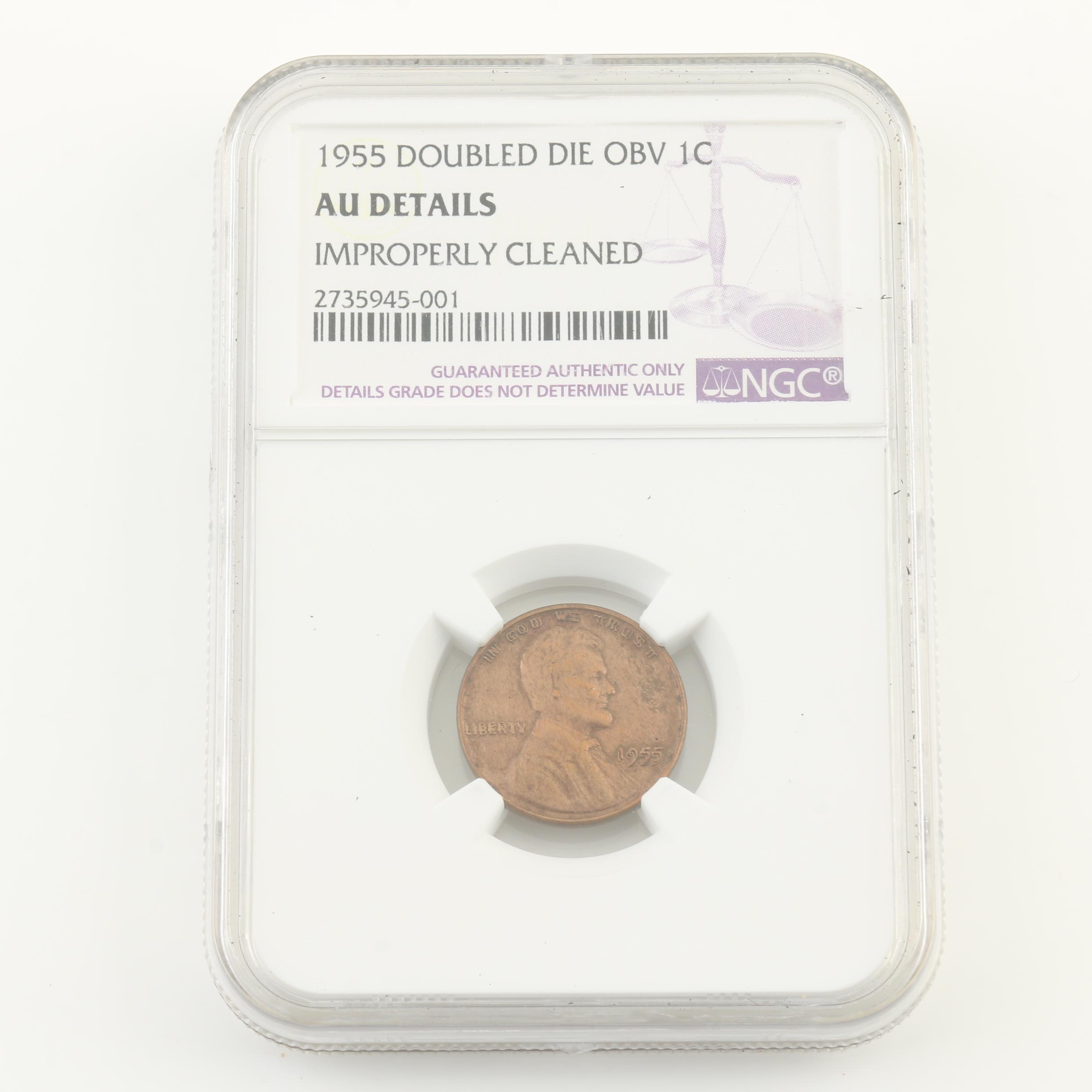 1955 Double Die Lincoln Wheat Cent