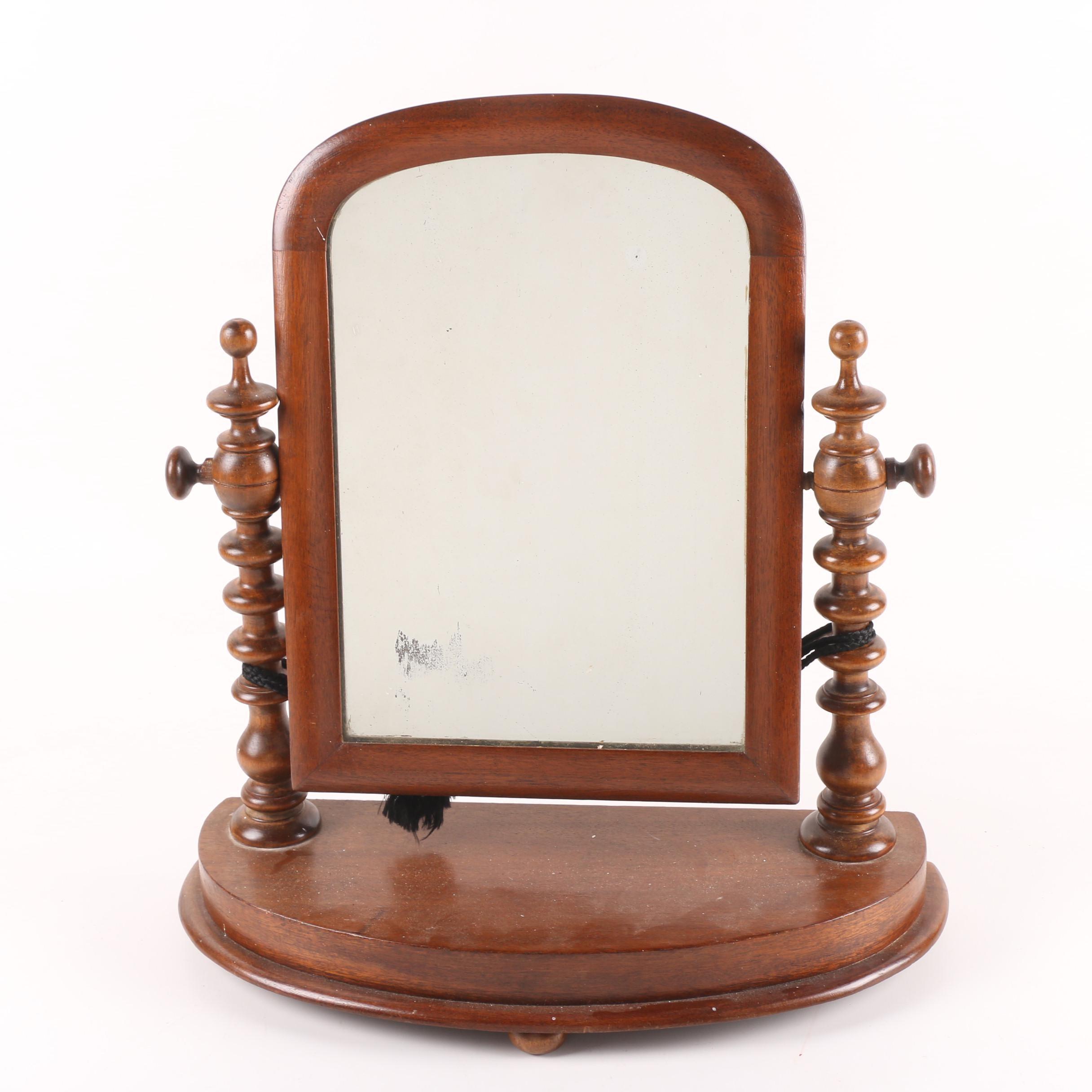 Antique Victorian Cheval Shaving or Dresser Mirror