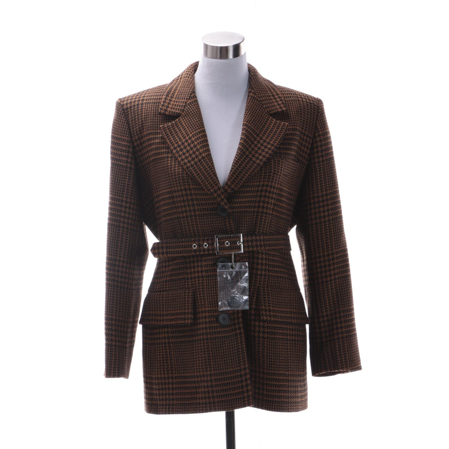 7bbb64ace6d Women's Vintage Yves Saint Laurent Encore Wool Houndstooth Jacket : EBTH