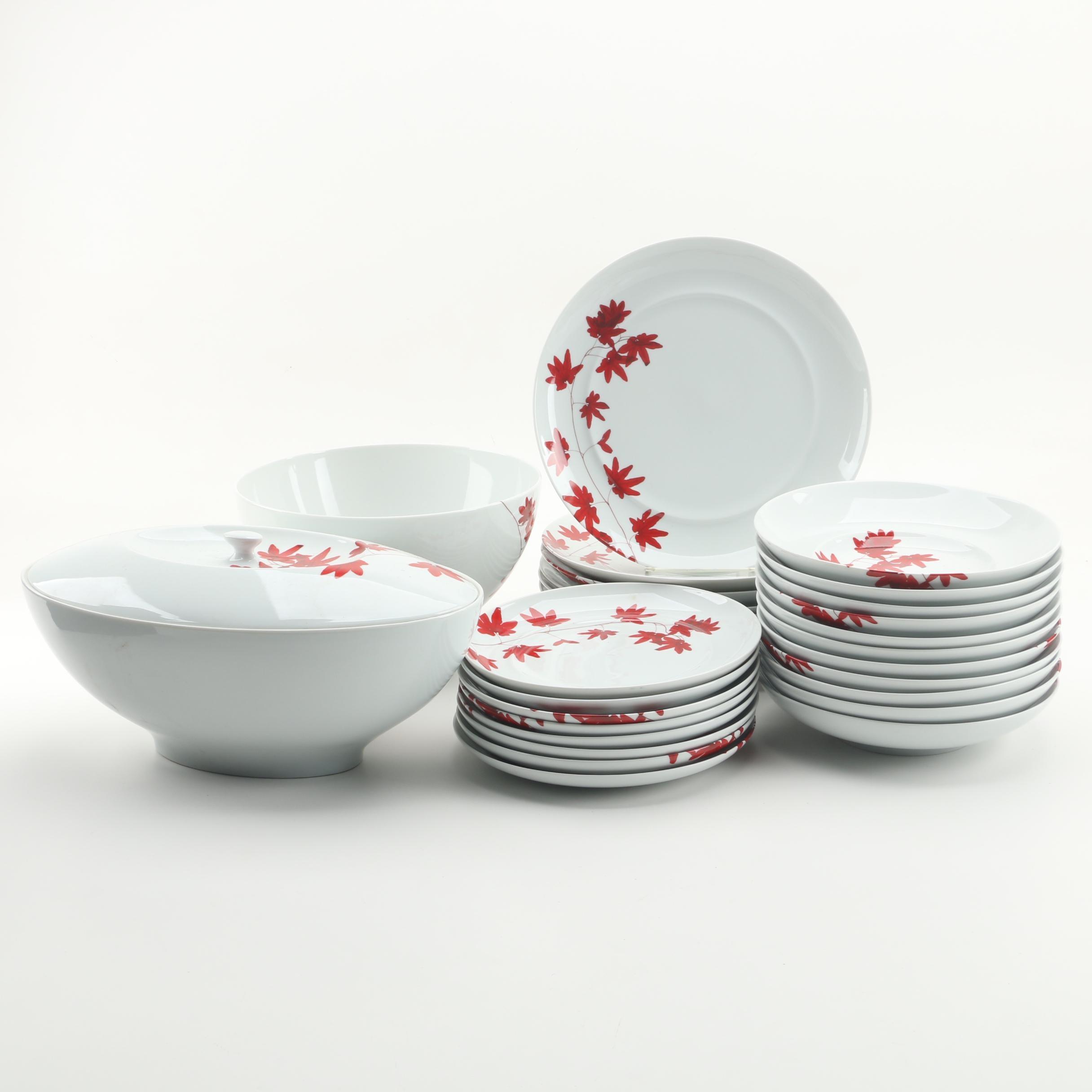"Mikasa ""Pure Red"" Porcelain Dinnerware"