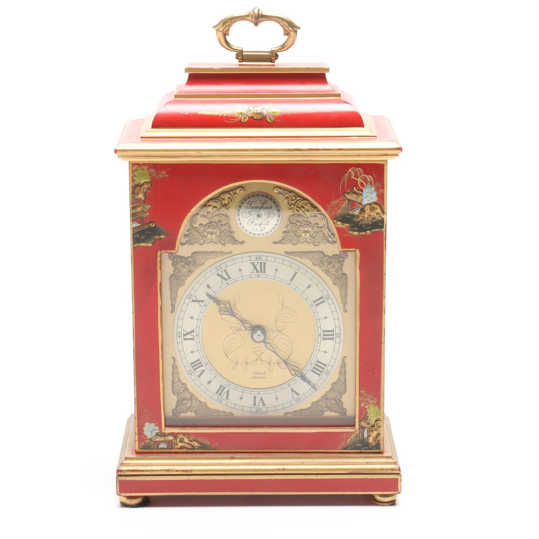 Elliott of London Chinoiserie Carriage Clock