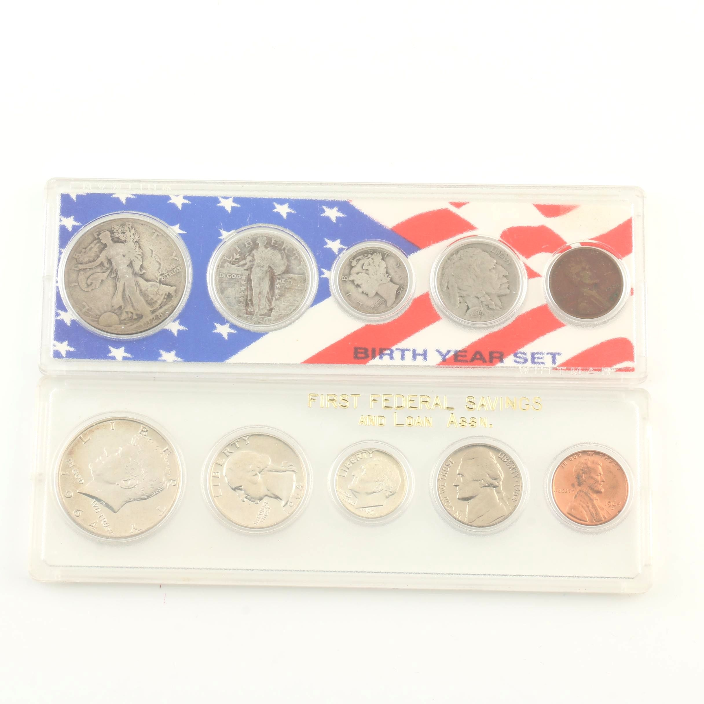 1928 and 1964 Coin Sets