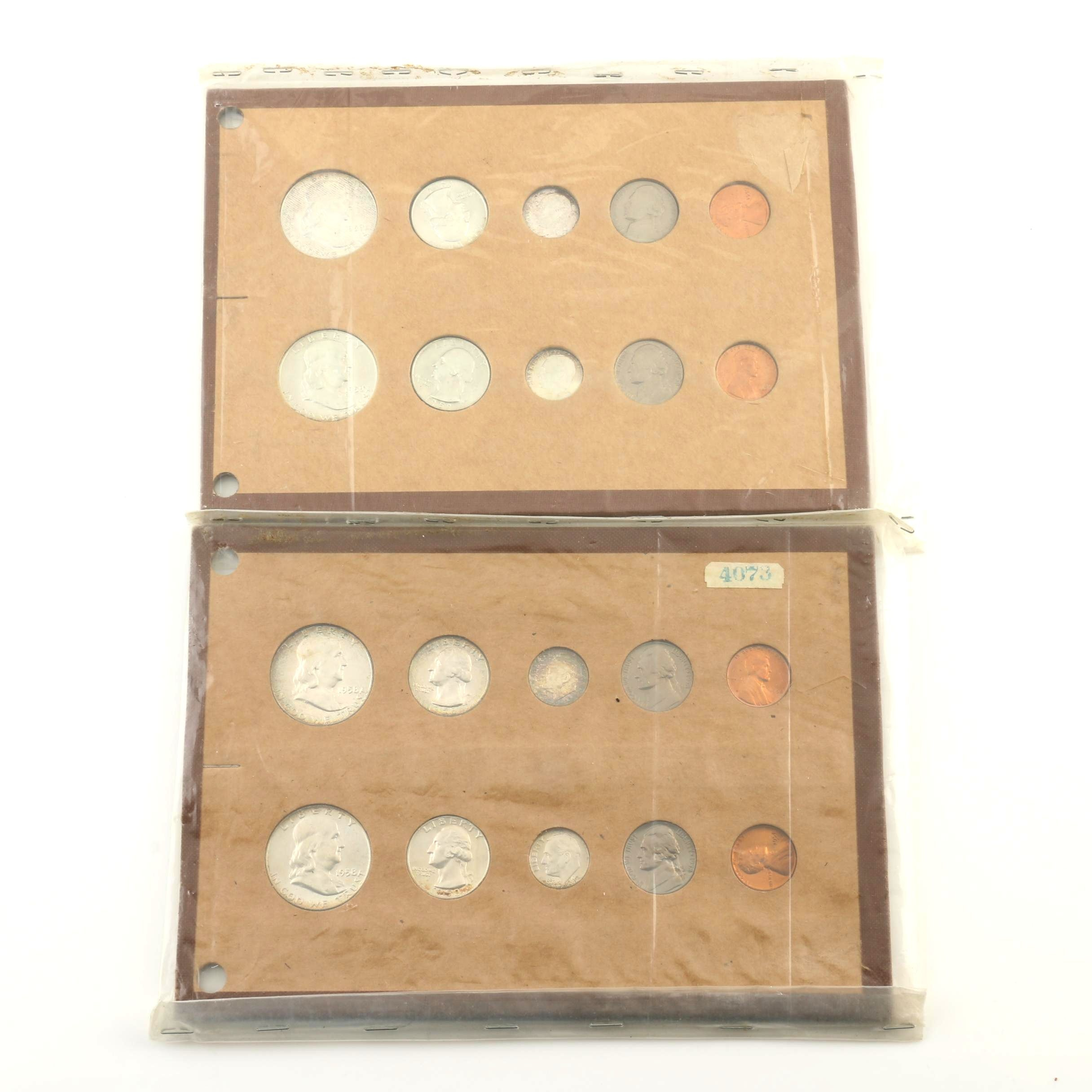 1958 and 1959 Coin Sets