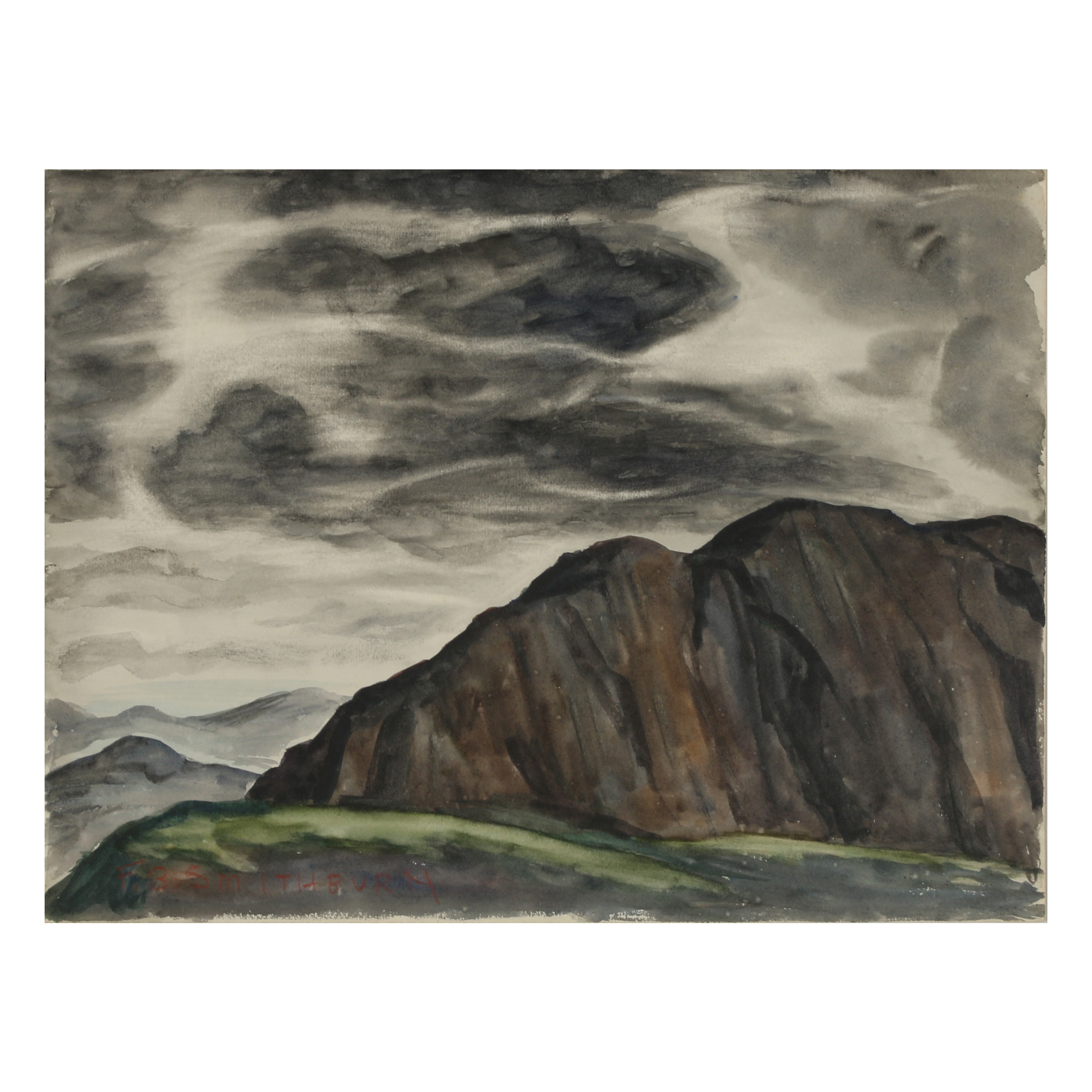 Florence Bartley Smithburn Landscape Watercolor Painting