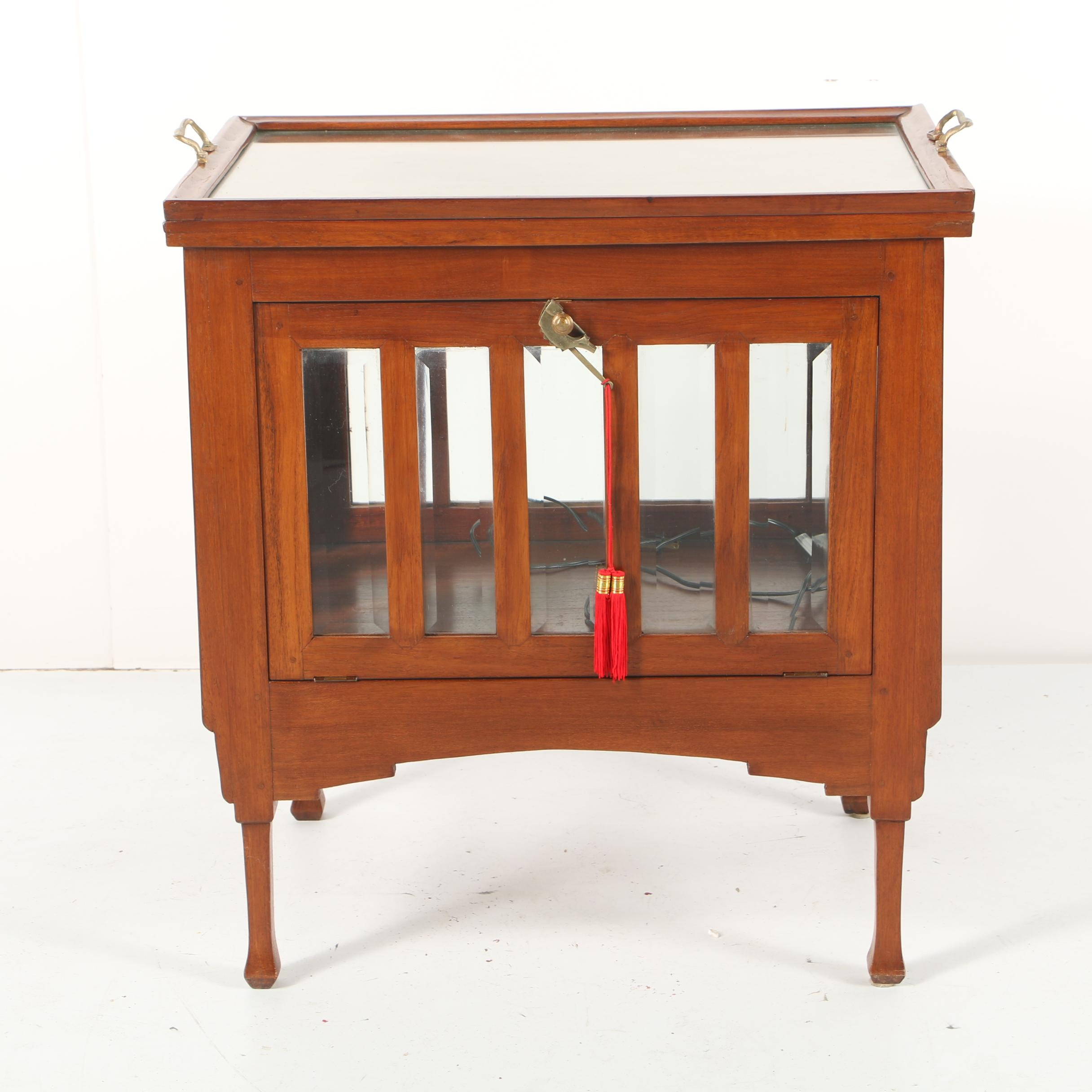 Vintage Vitrine Table with Tray