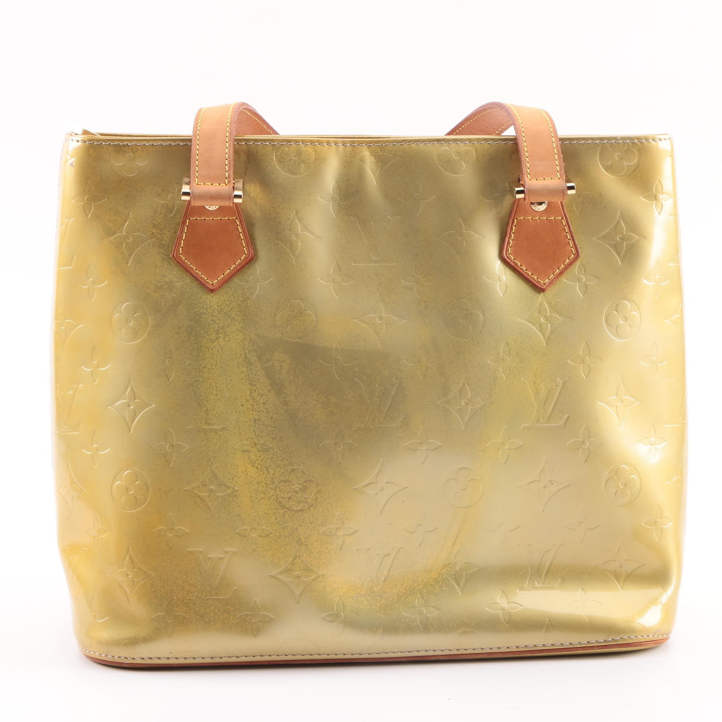 1999 Louis Vuitton Paris Lime Vernis Leather Shoulder Bag
