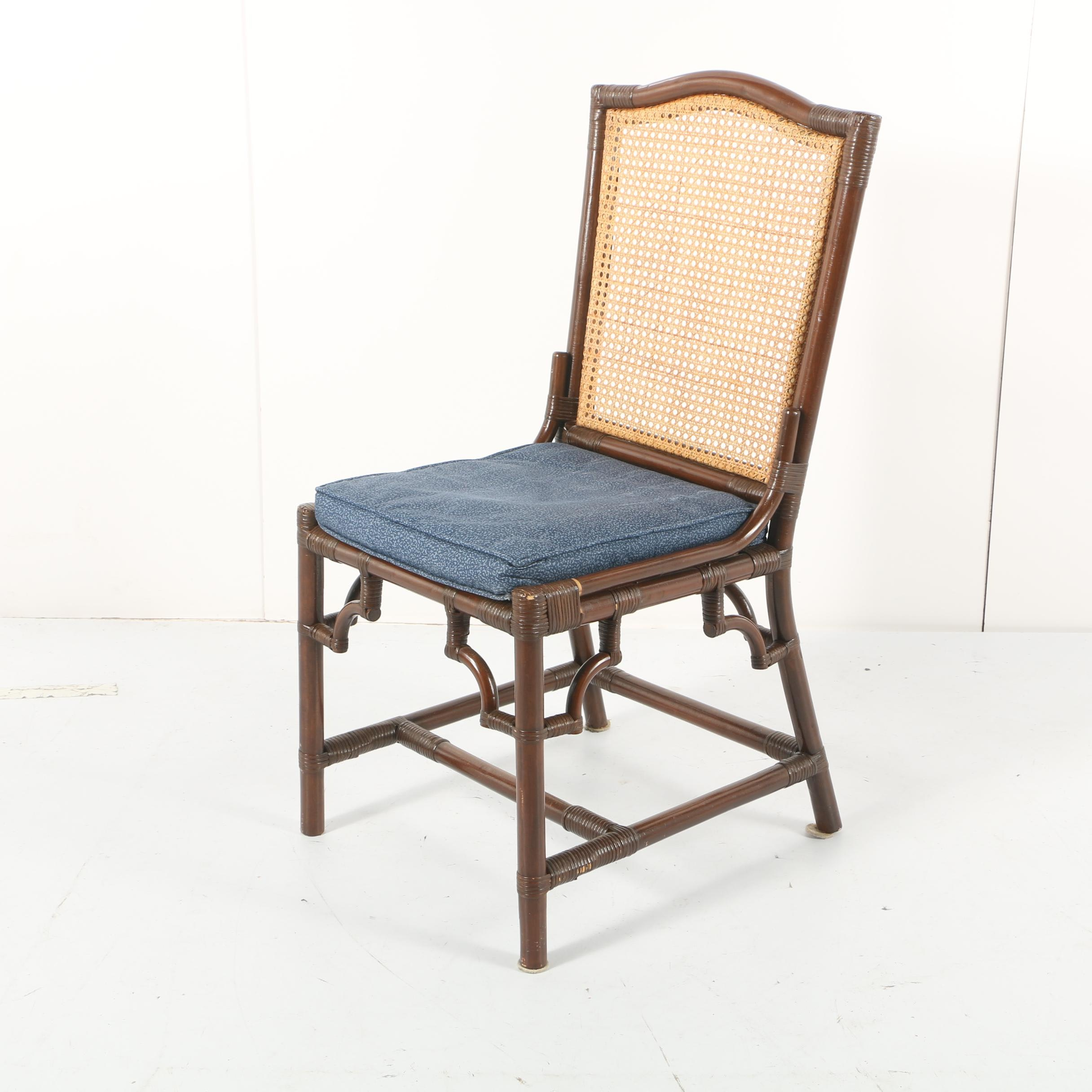Cane Back Bamboo Style Chair