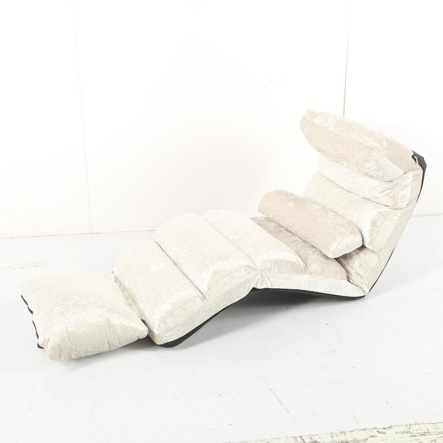 Upholstered Adjustable Floor Chair