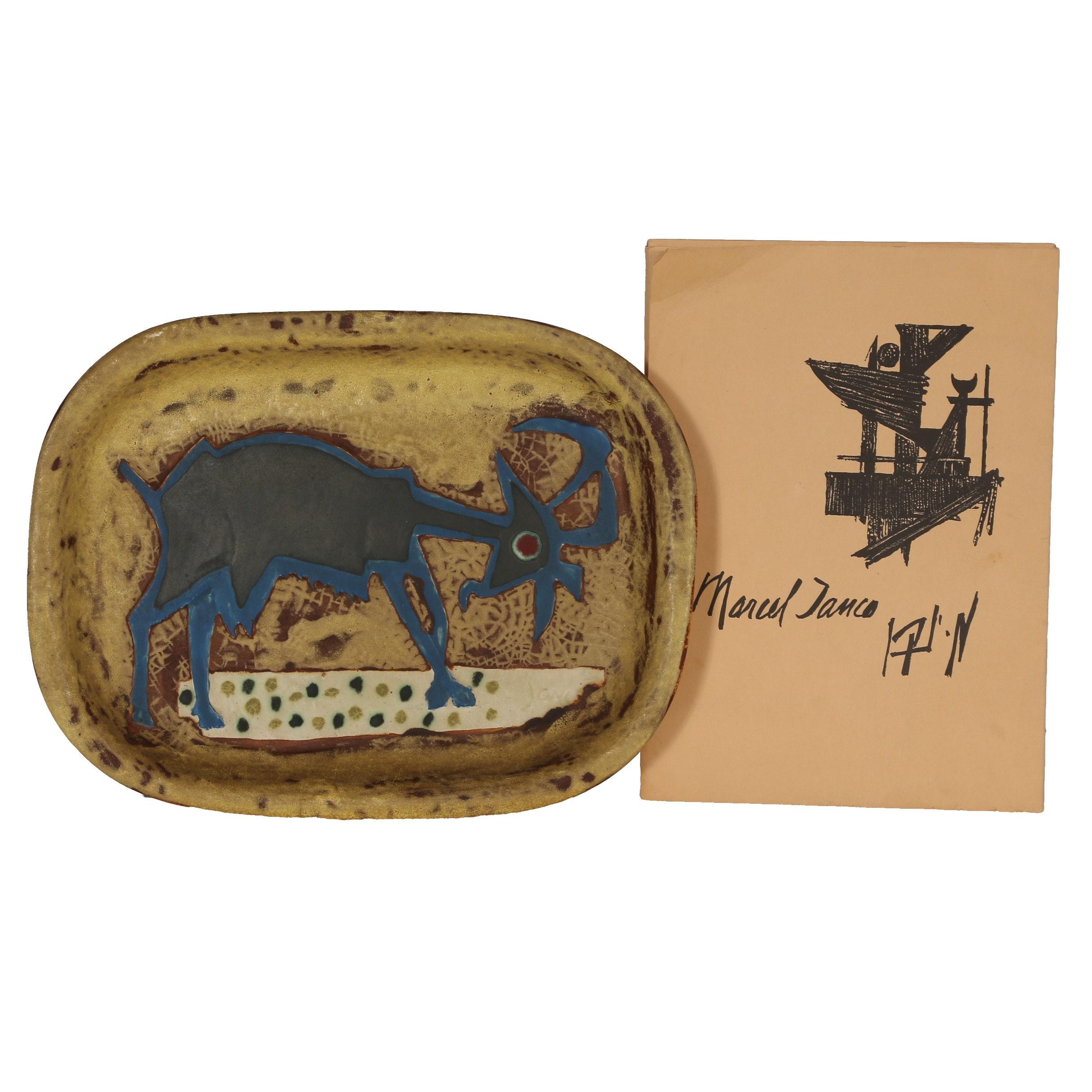 Marcel Janco Ceramic Tray