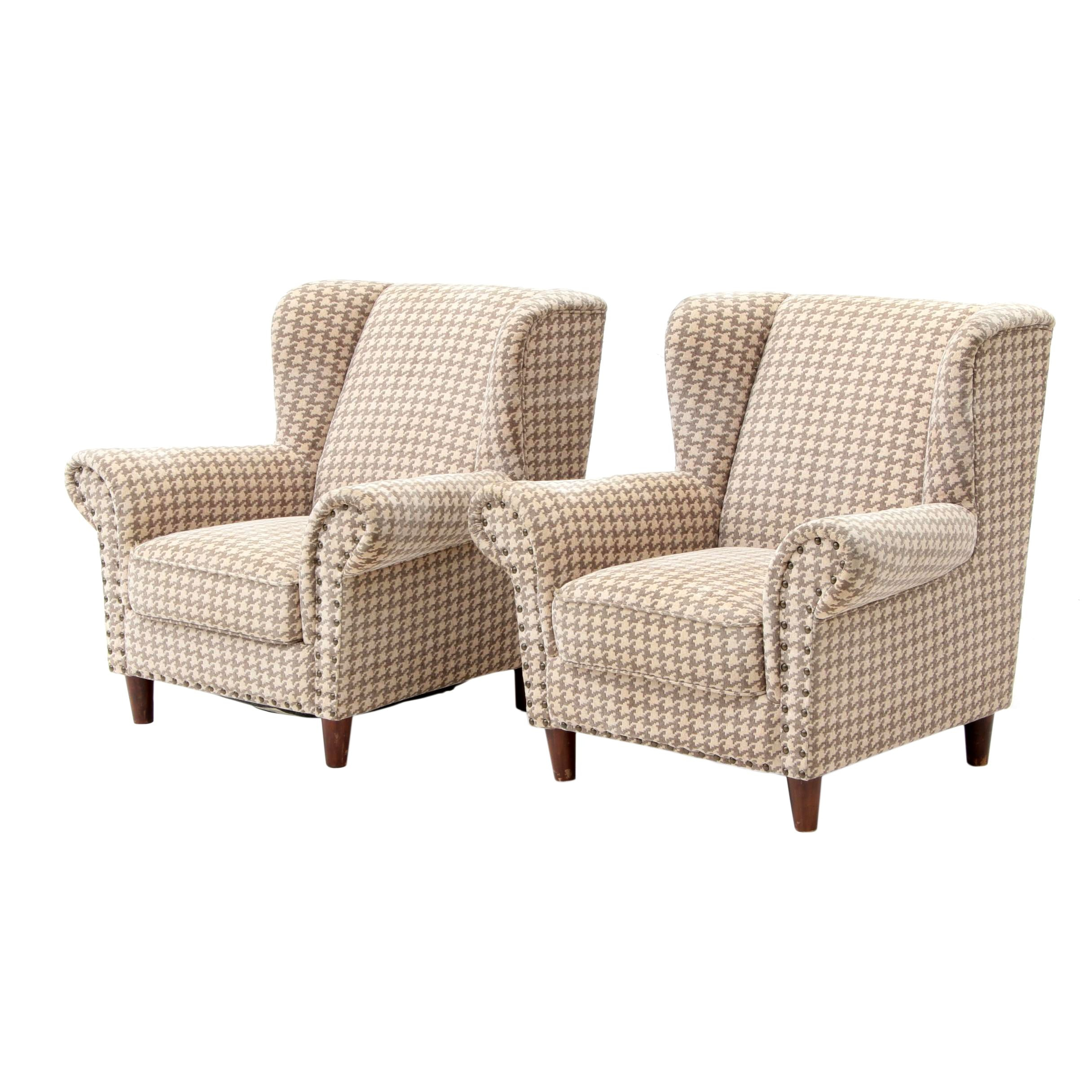 Pair of Contemporary Wing Back  Armchairs