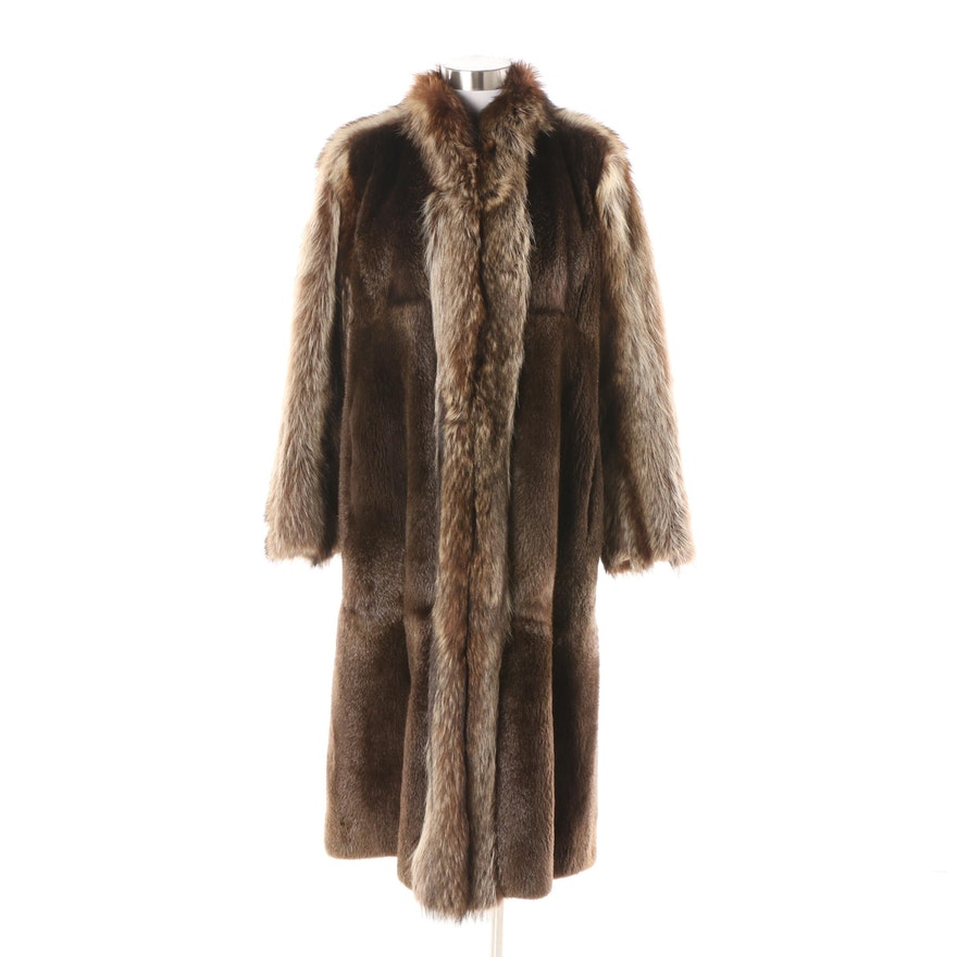 68999b1afe1 Women's Yves Saint Laurent Raccoon and Sheared Beaver Coat : EBTH