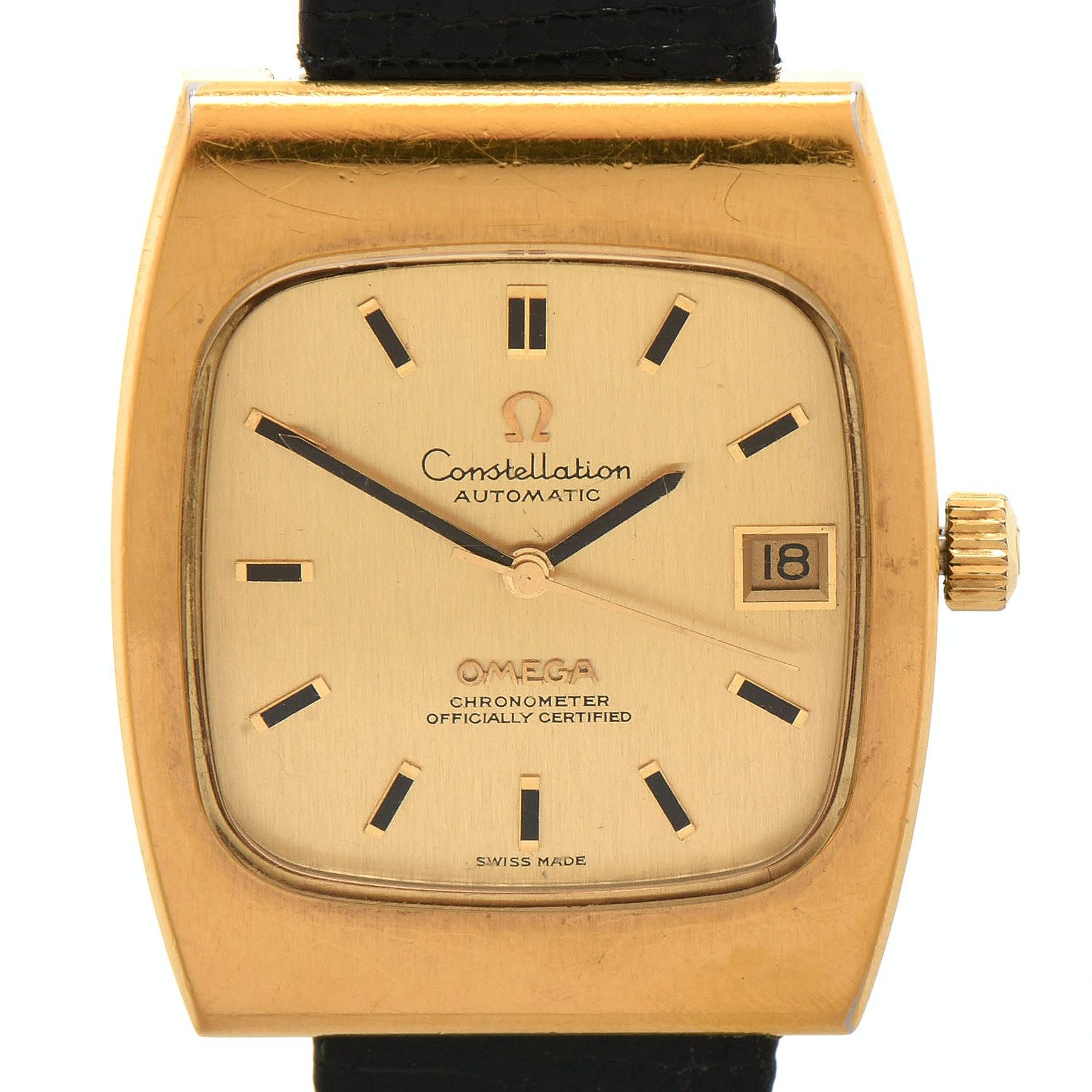 Circa 1970s Omega Constellation Automatic Wristwatch