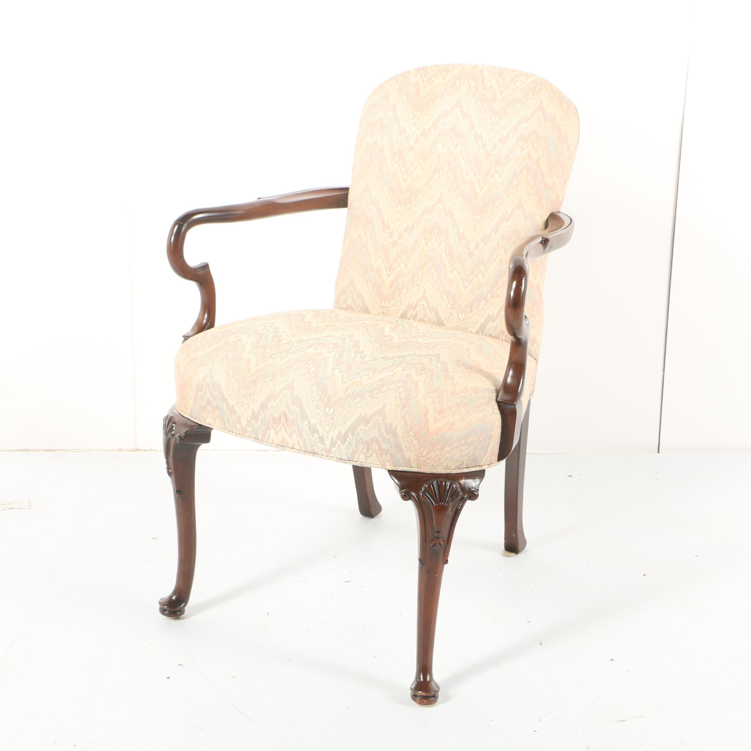 Queen Anne Style Armchair by Hickory Chair Company