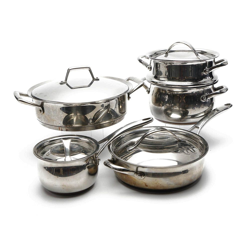 Kirkland Signature Stainless Steel Cookware with Tramontina Braiser Pan