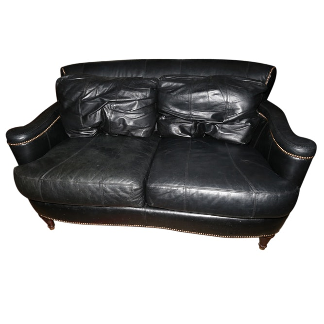 Black Leather Loveseat By Ferguson Copeland ...