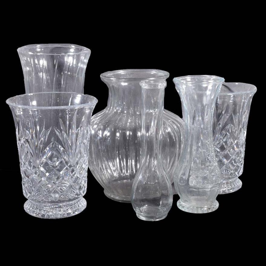 Assorted Contemporary Glass Vases Ebth