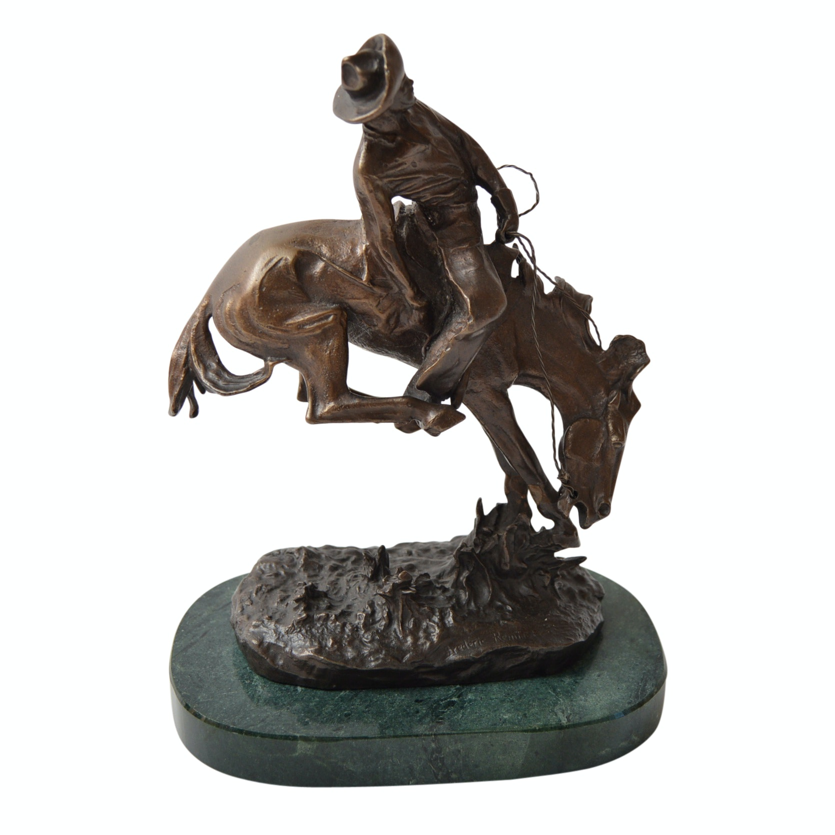 "Bronze Sculpture After Frederic Remington ""Outlaw"""