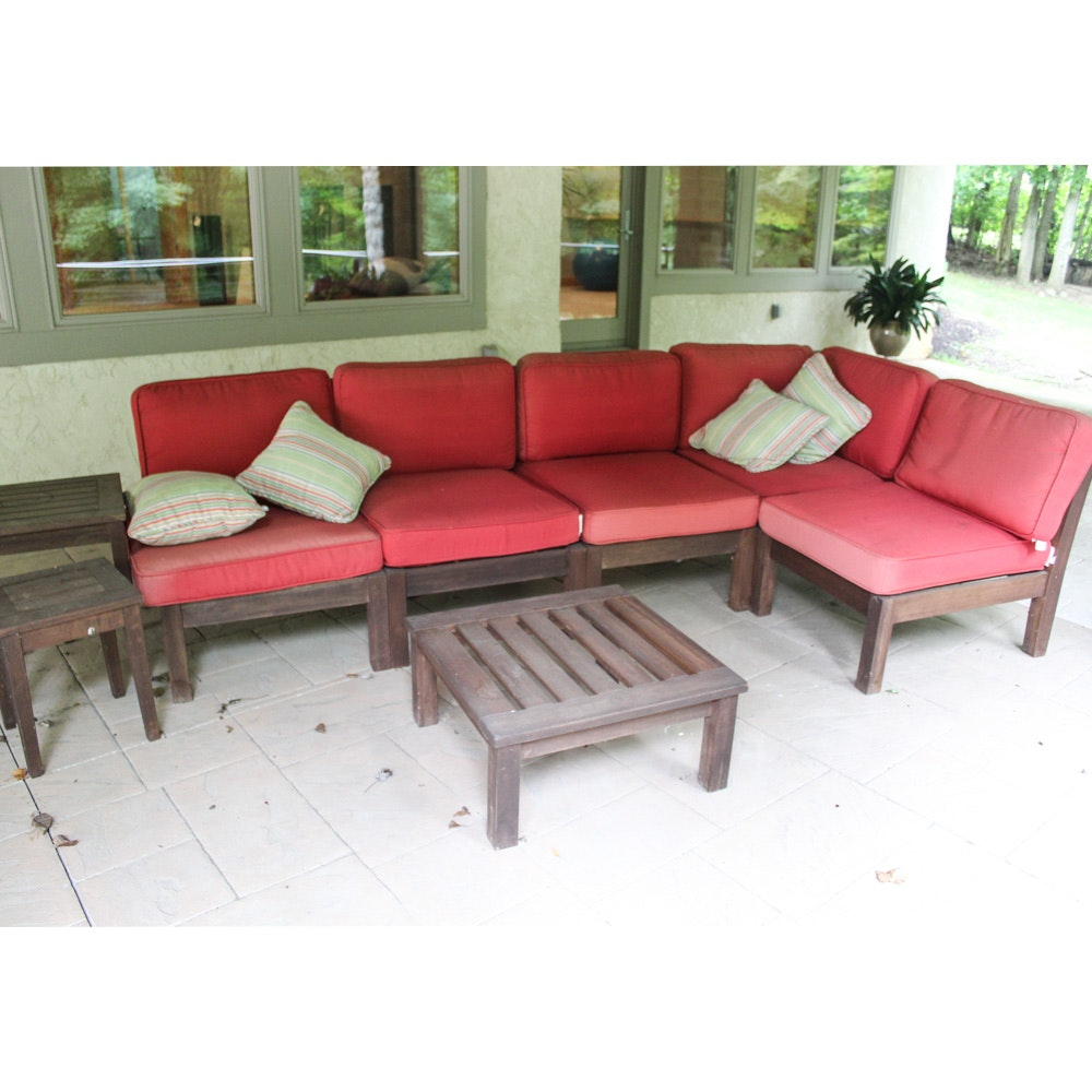 Patio Sofa and Tables from Pottery Barn