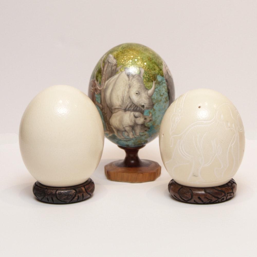 Ostrich Egg Decor Grouping