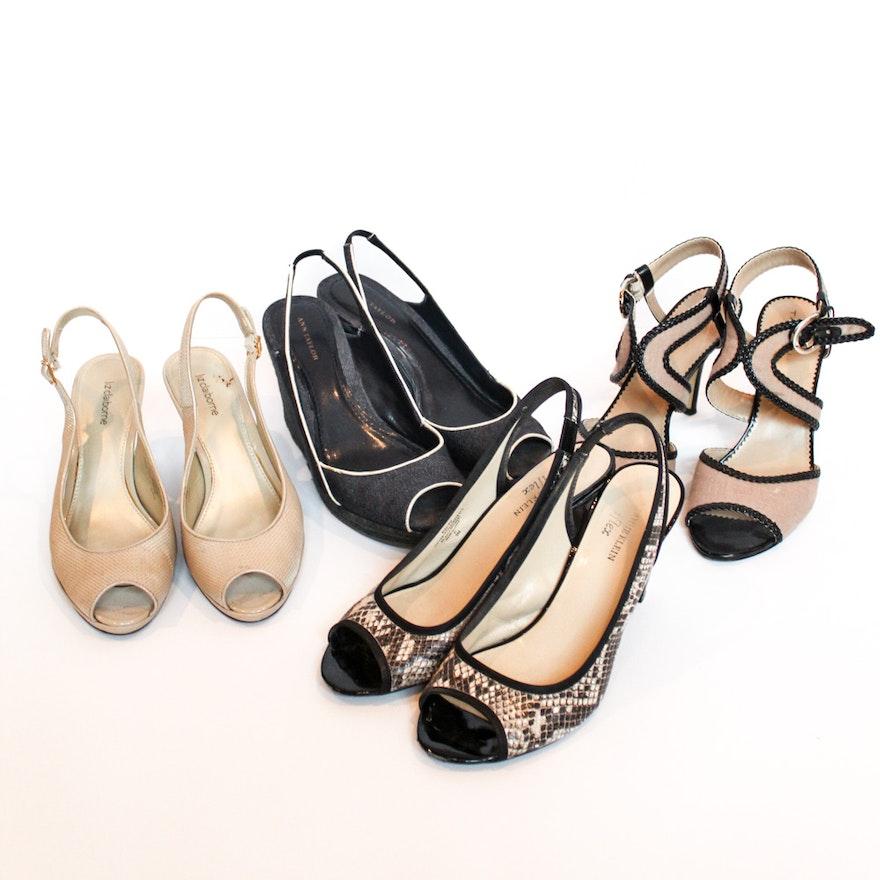 7739f0465ad Women s Designer High-Heeled Slingback Sandals Including Tahari   EBTH