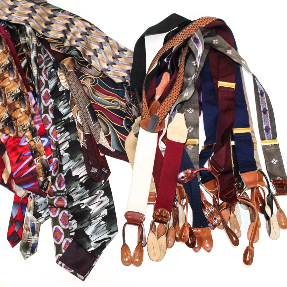 Men's Neckties and Suspenders Including Jerry Garcia