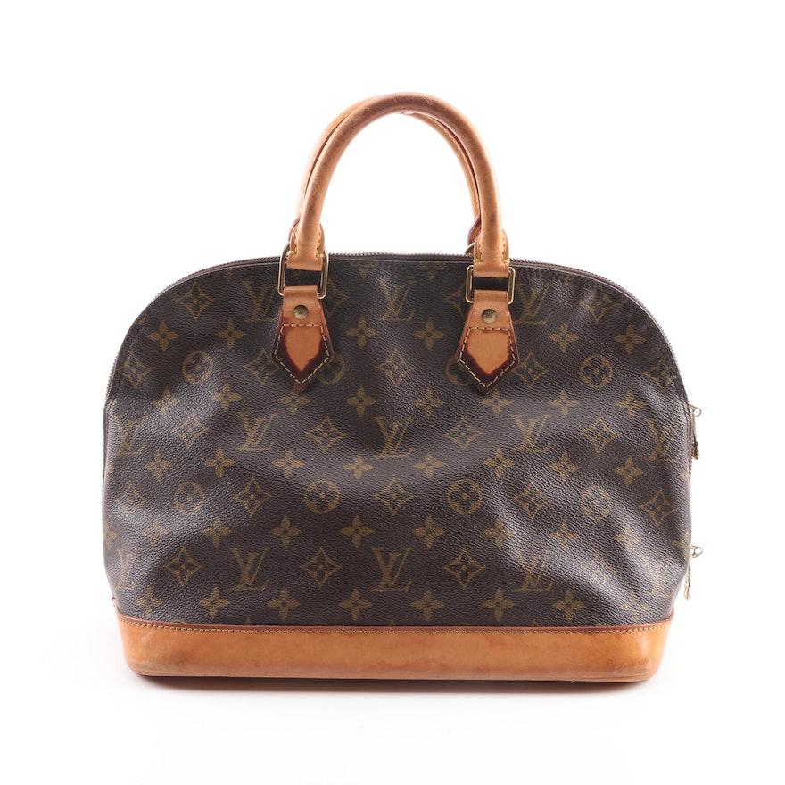 3e1f9e572c8e 1996 Louis Vuitton Paris Alma PM Monogram Canvas Handbag   EBTH
