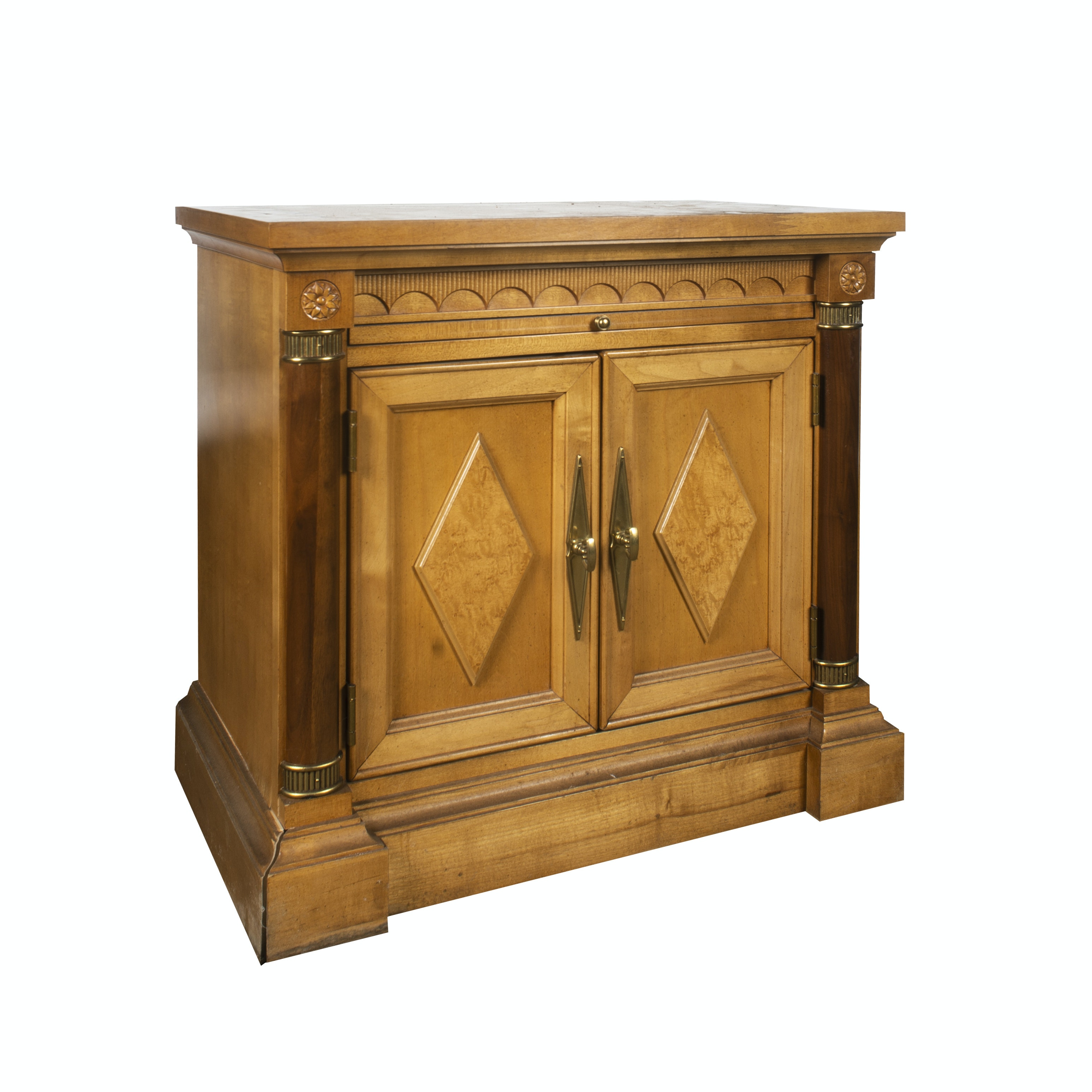 Columnar Accent End Table Cabinet