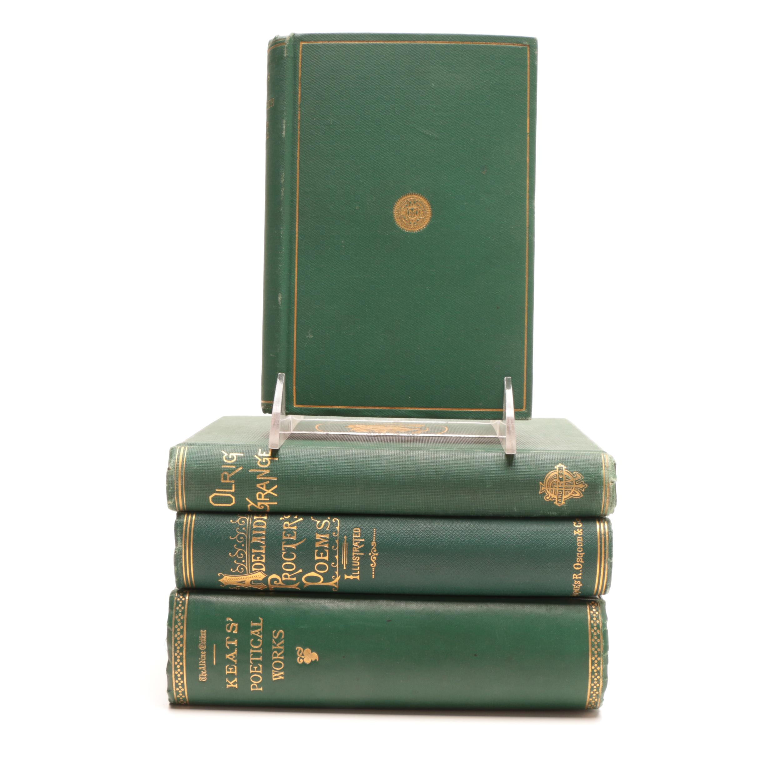 Four Antique Poetry Hardcovers