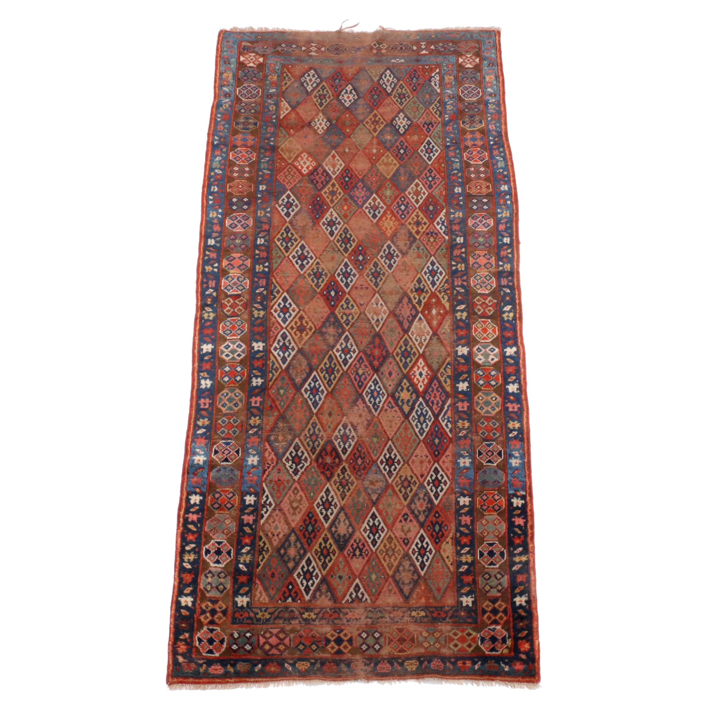 Hand-Knotted Persian Kurdish Jaff Area Rug