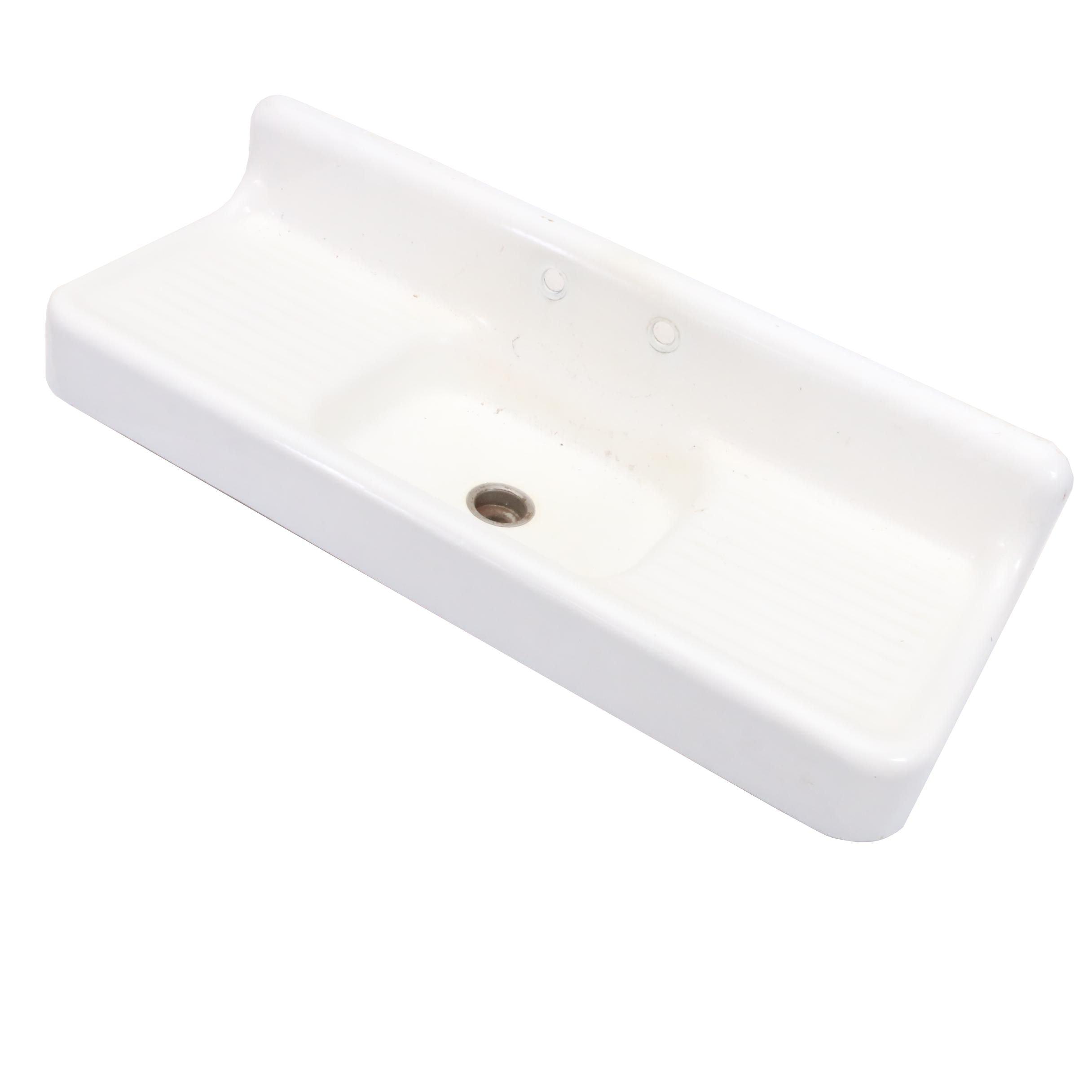 Vintage Enameled Metal Sink
