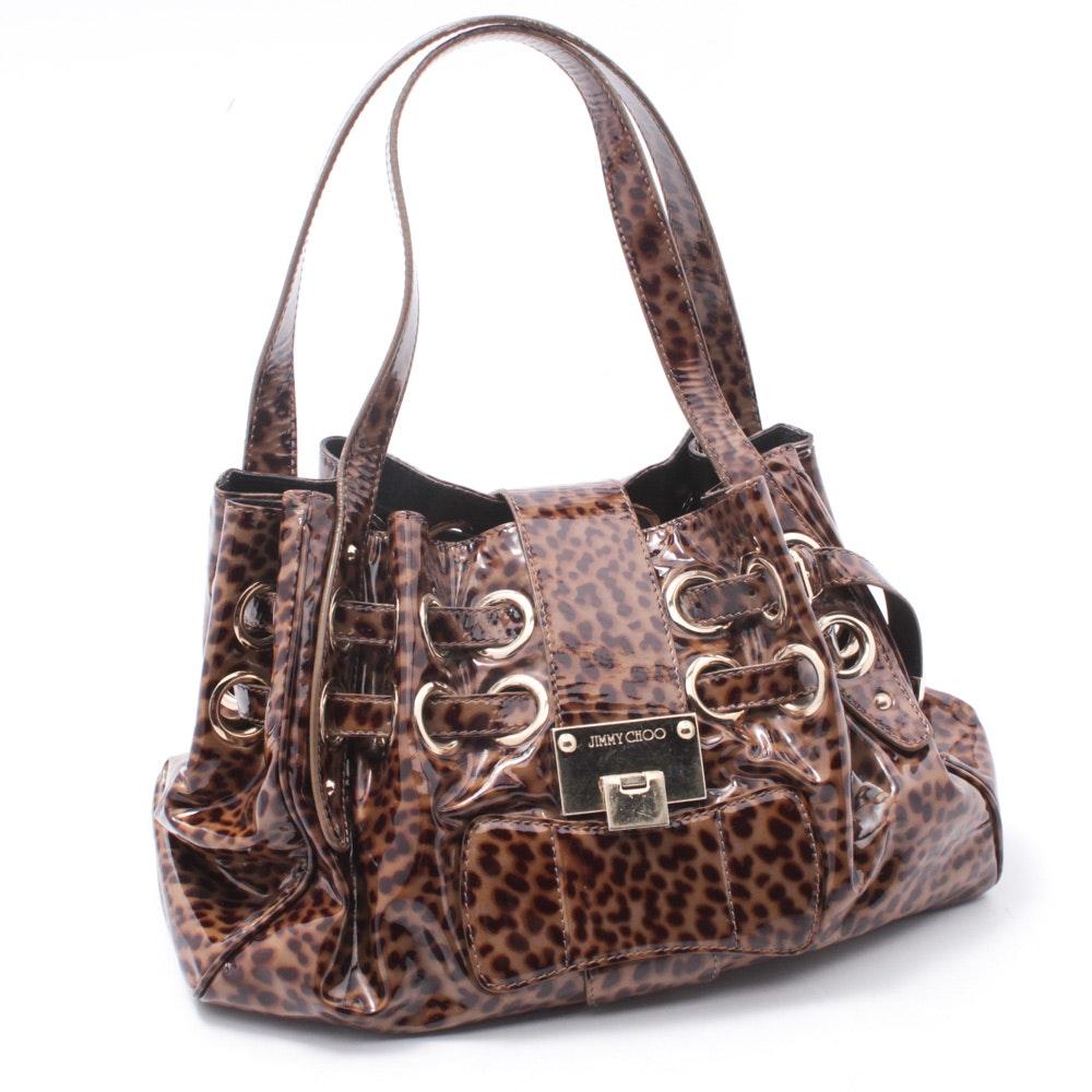 "Jimmy Choo ""Ramona"" Patent Leather Handbag"