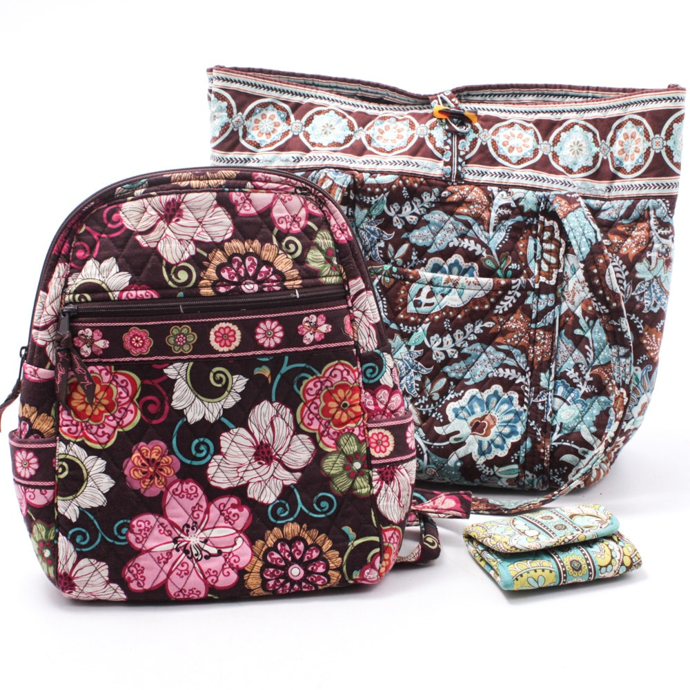 Vera Bradley Quilted Bag and Wallet Collection
