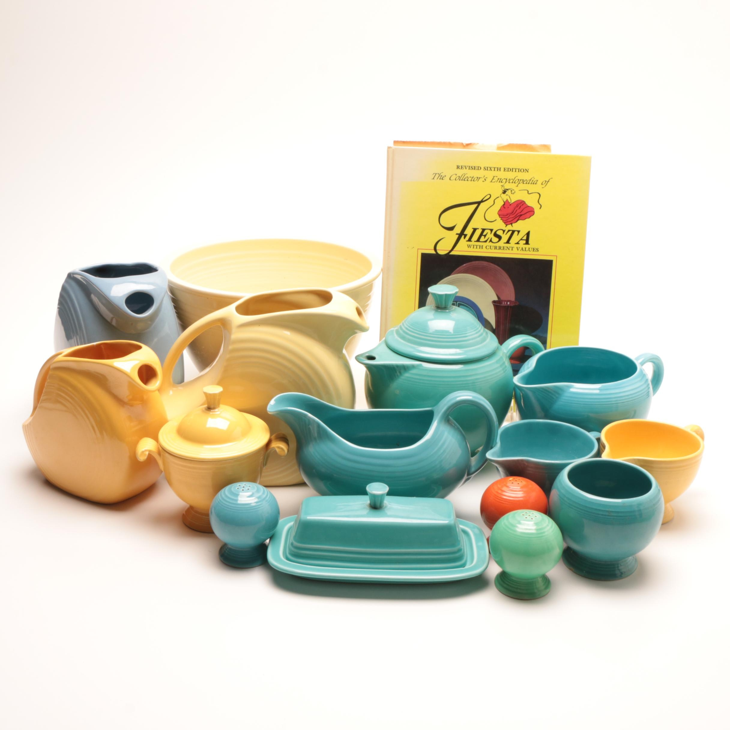 "Homer Laughlin ""Fiesta"" Tableware with Fiesta Collector's Book"
