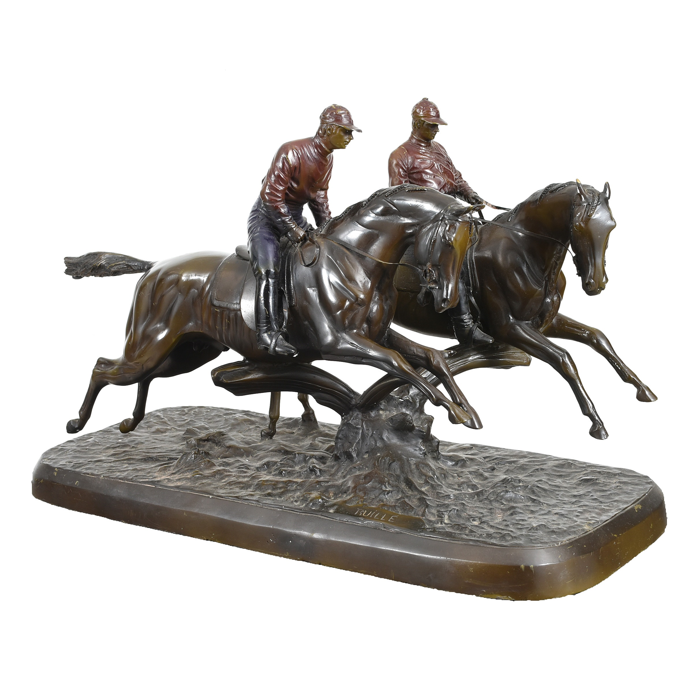 Bronze Jockey Sculpture after Comte Henri-Geoffroy de la Planche de Ruille