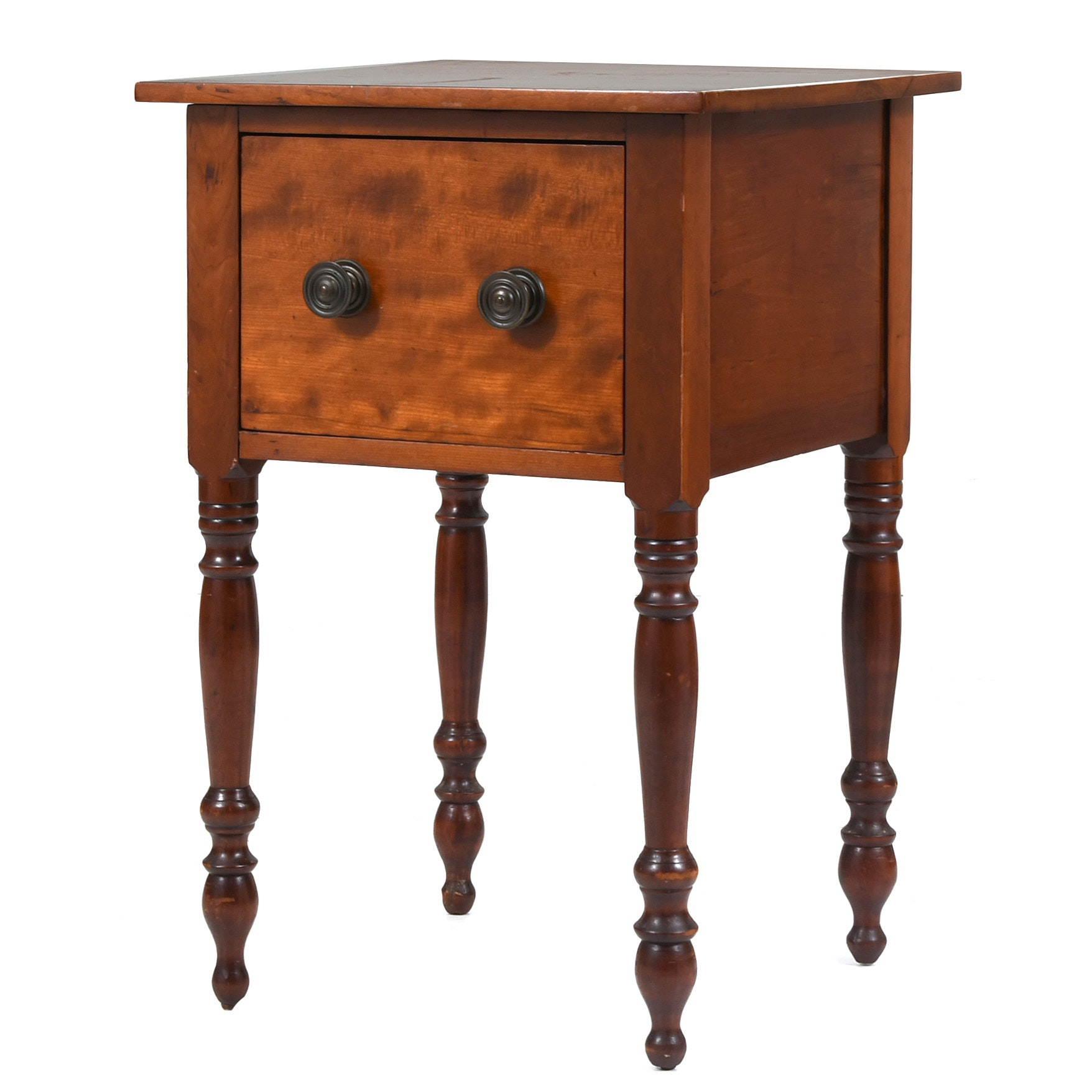 Late Federal Cherry One-Drawer Stand, Possibly Southern, Circa 1820-1840