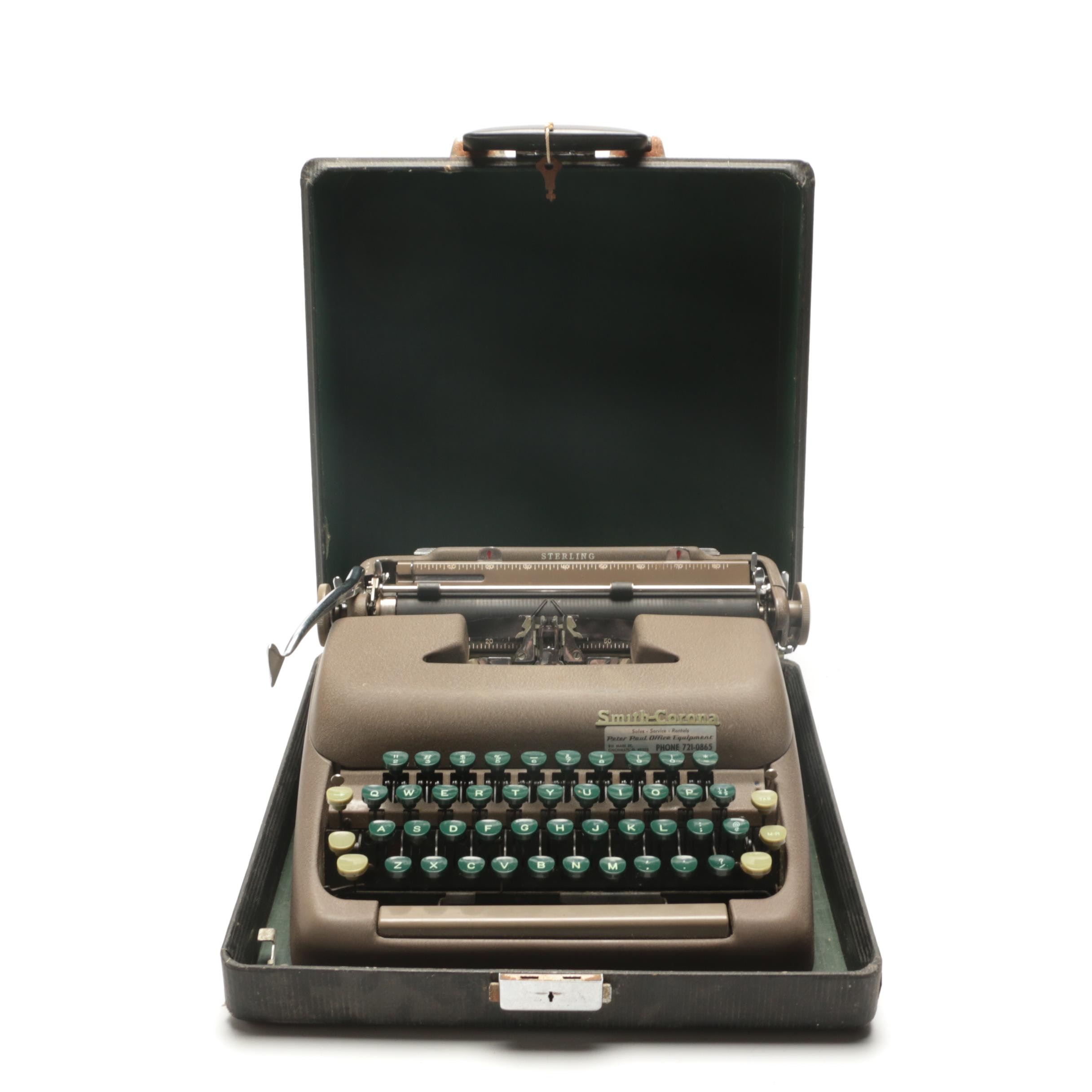 Smith-Corona Sterling Typewriter in Carrying Case