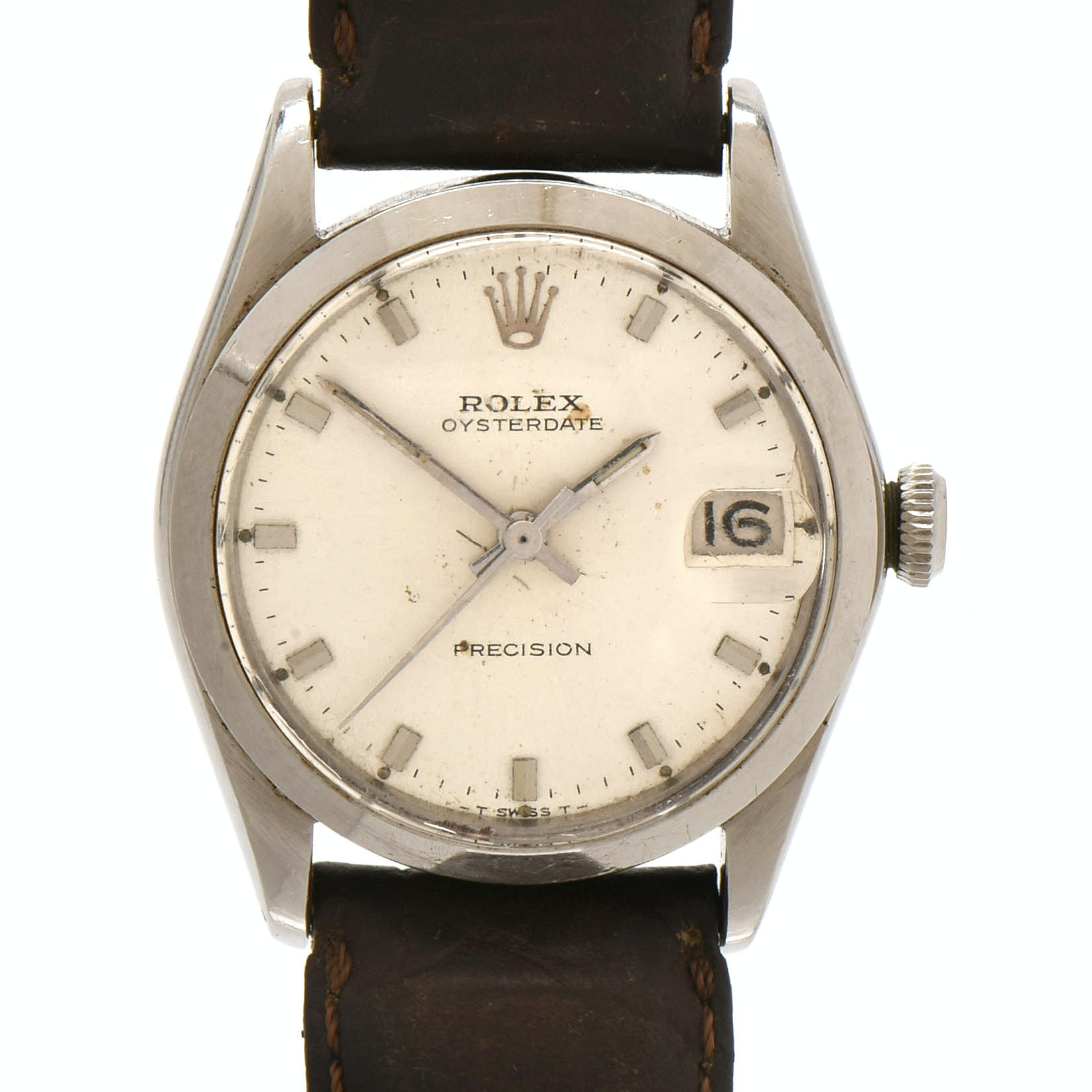 1966 Rolex Oyster Date 6466 Stainless Steel Wristwatch