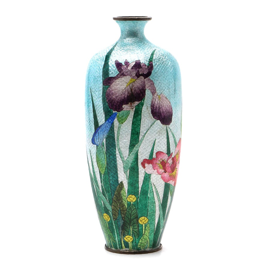 Japanese Vase Attributed To Ando Cloisonn Company Ebth