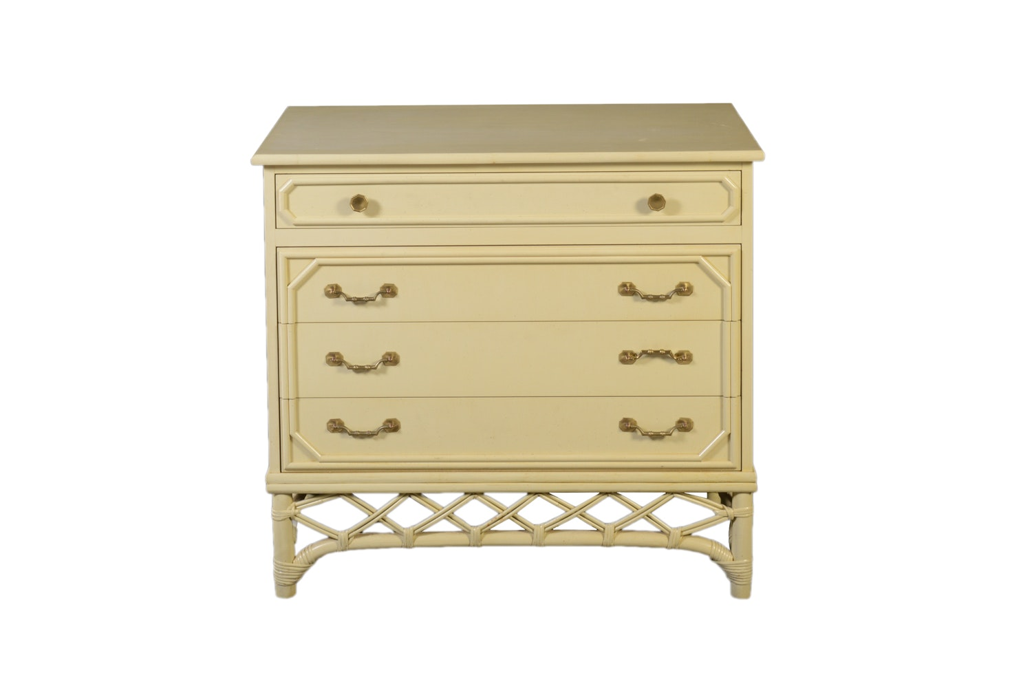 Pale Yellow Small Chest of Drawers by Fick's Reed