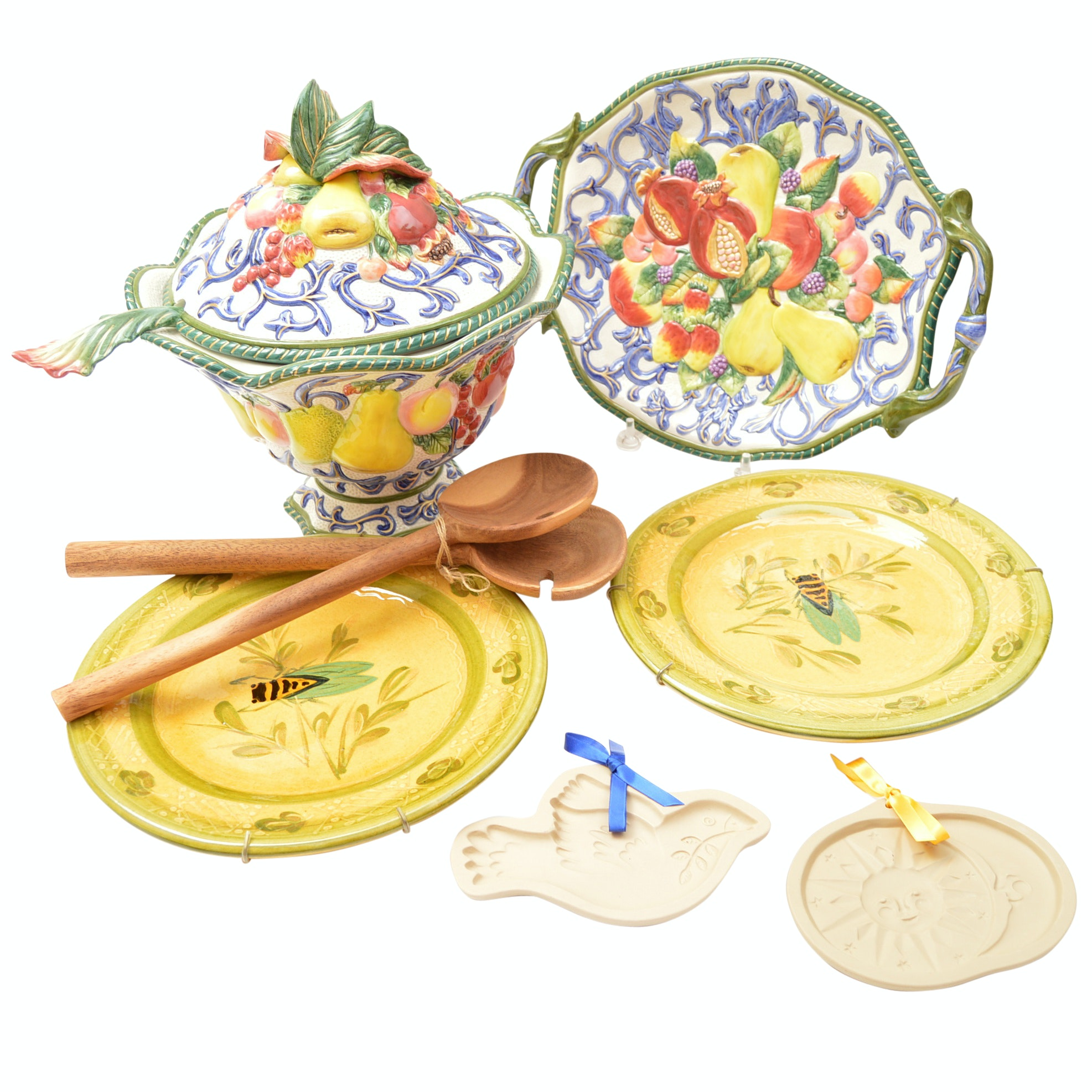 Italian Ceramic Tableware and Serveware with Fitz and Floyd Tureen