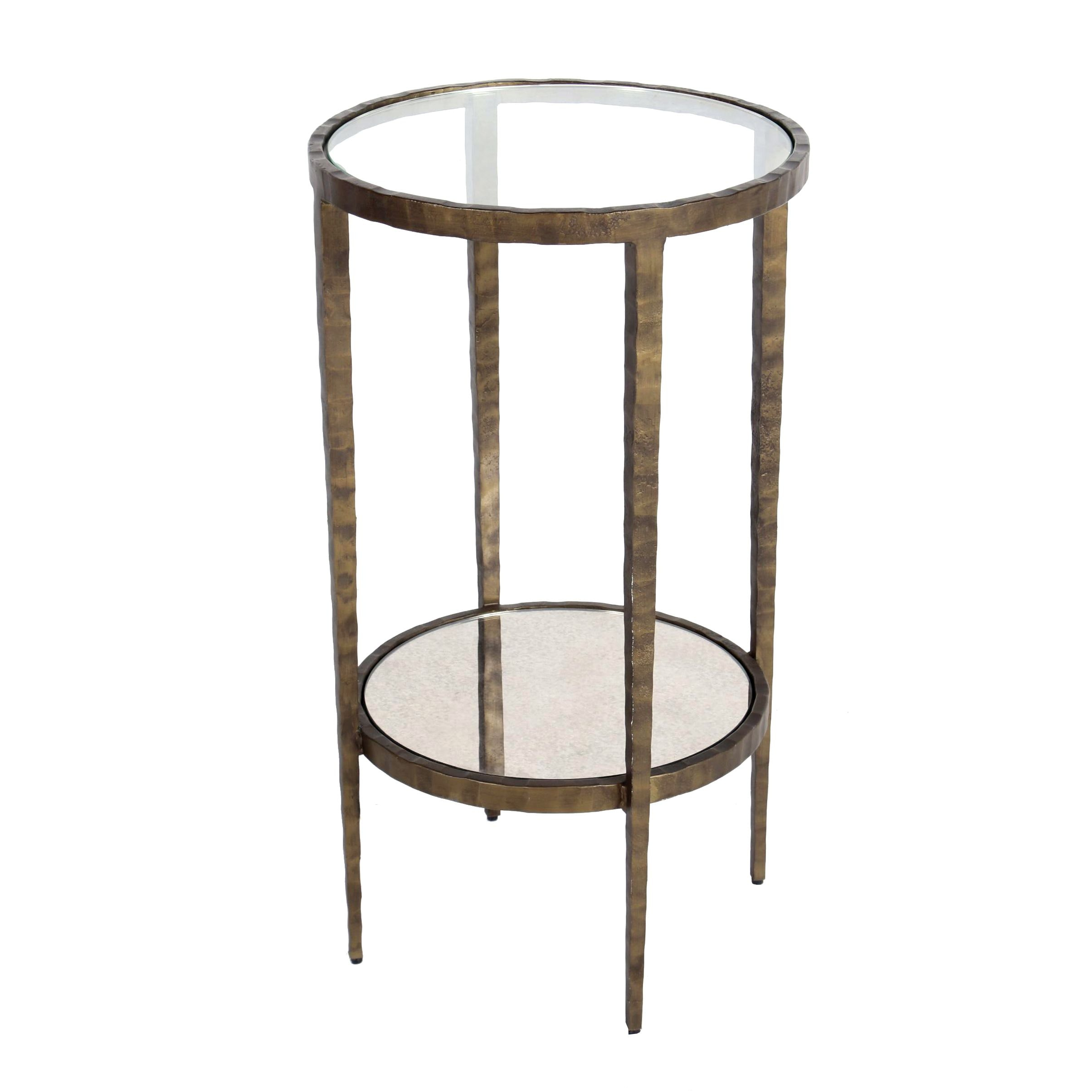 Art Deco Style Forged-Steel Round Side Table, Probably Crate and Barrel